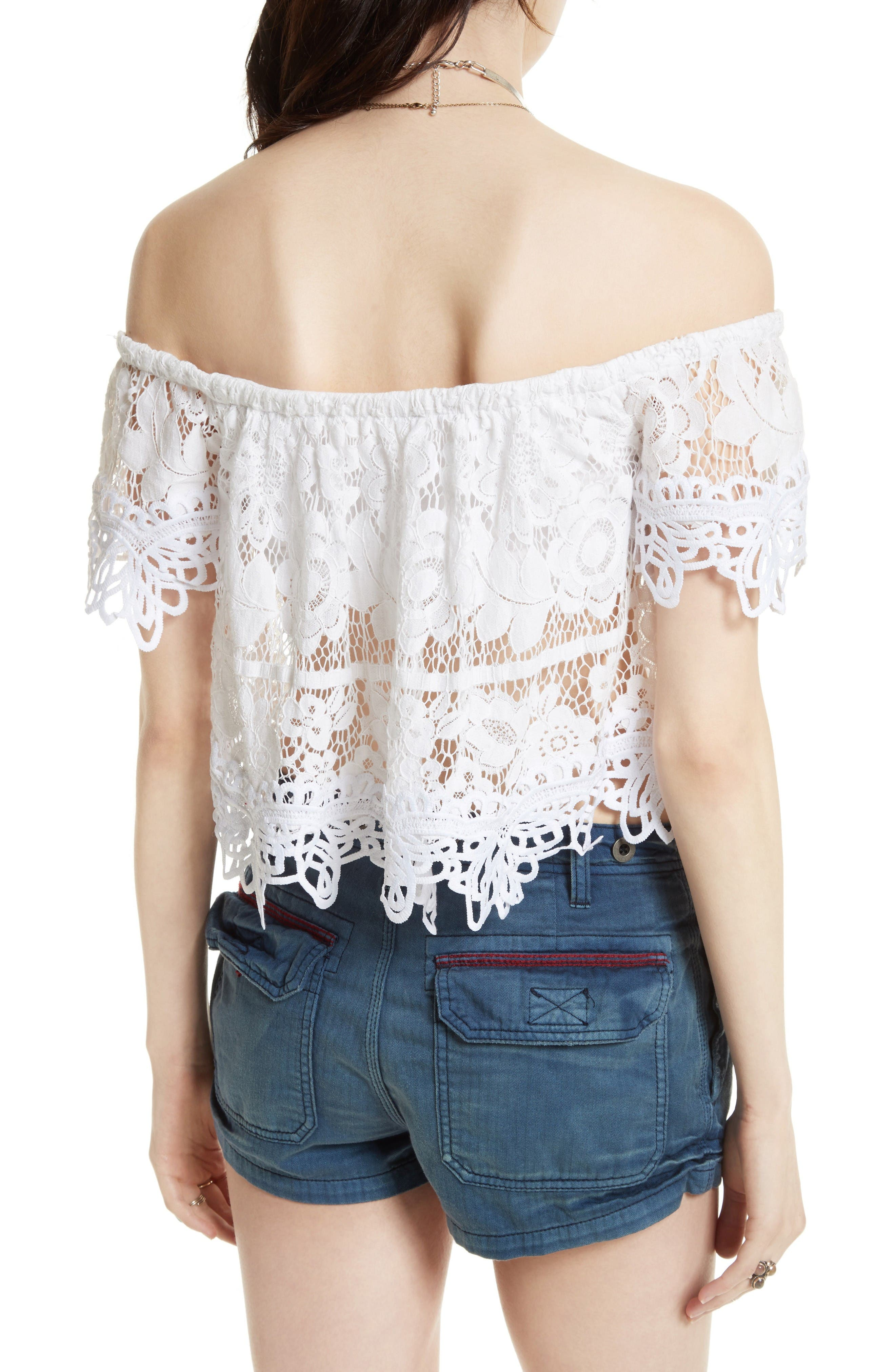 Alternate Image 2  - Free People Lace Off the Shoulder Tank