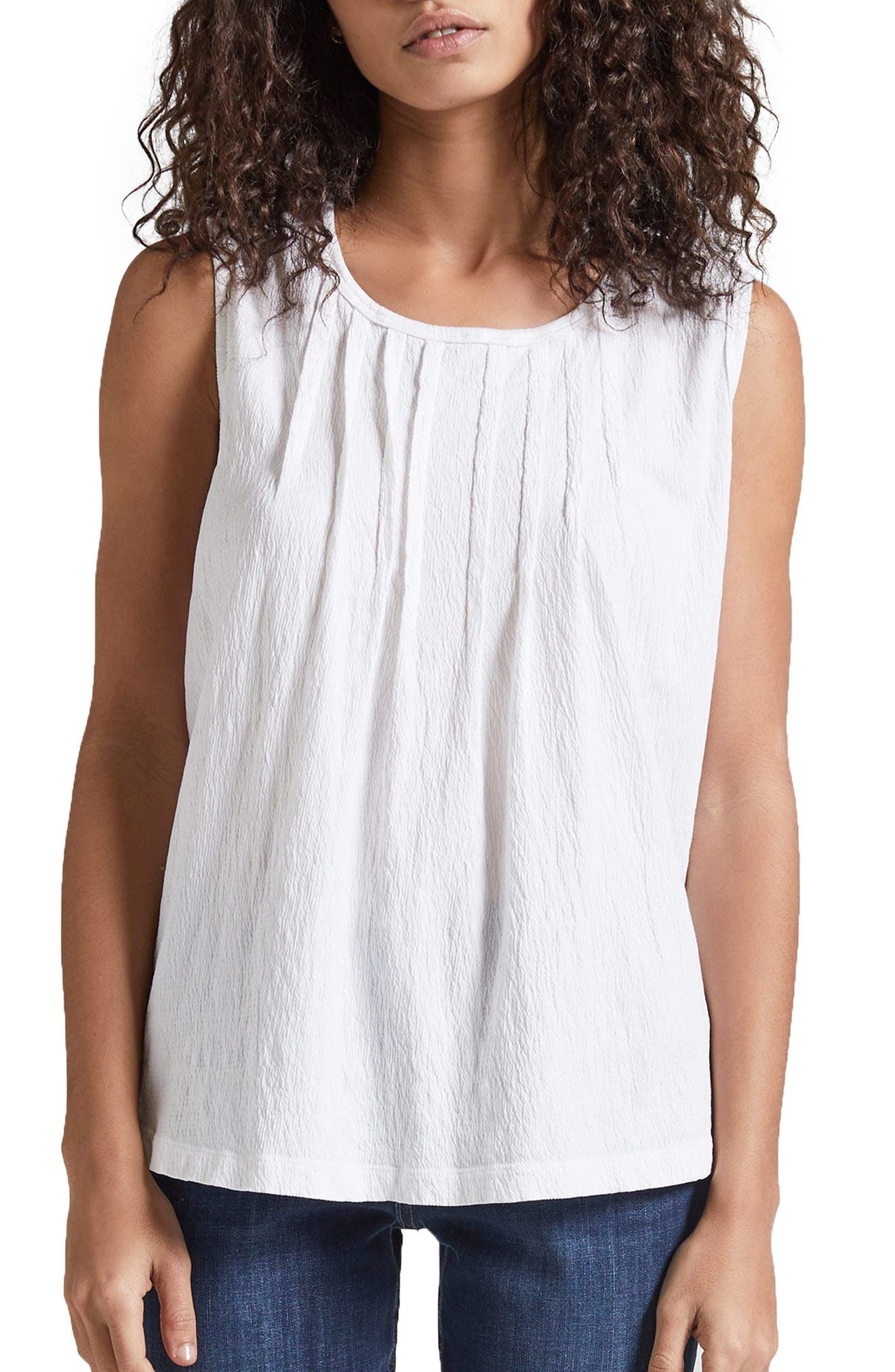 CURRENT/ELLIOTT The Pintuck Muscle Tee