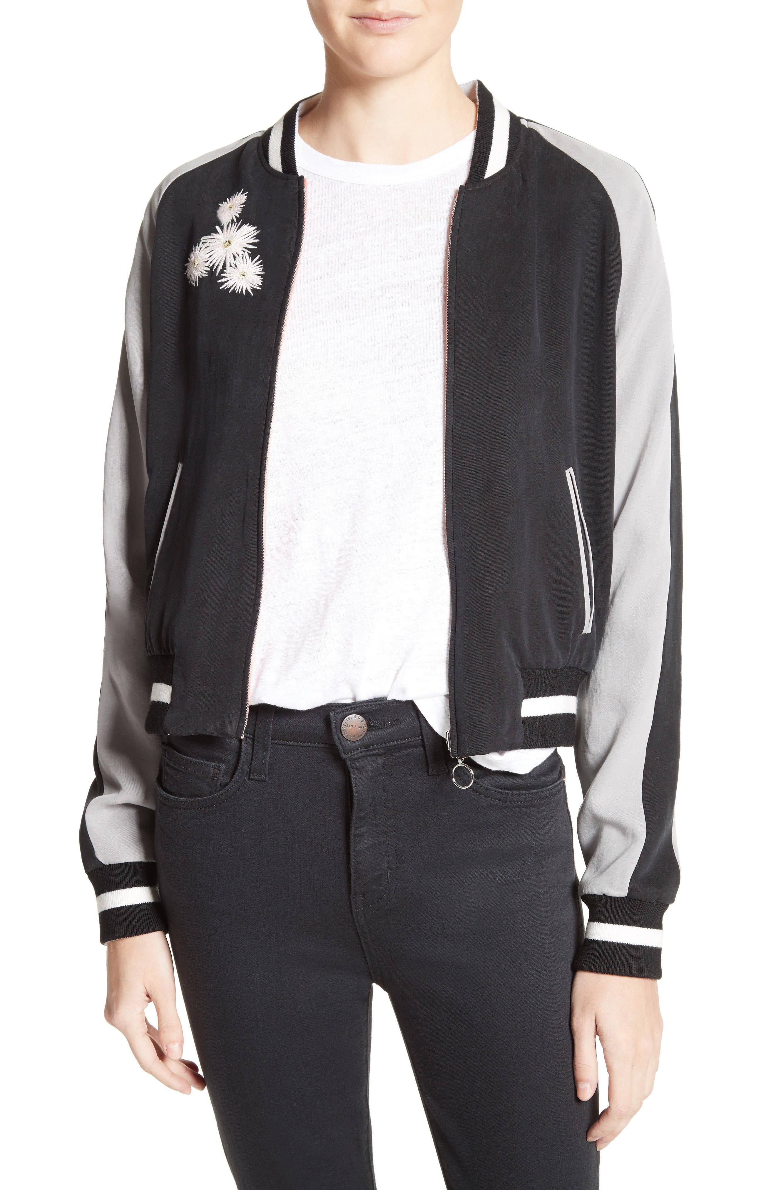 Elizabeth and James Willa Embroidered Reversible Bomber Jacket