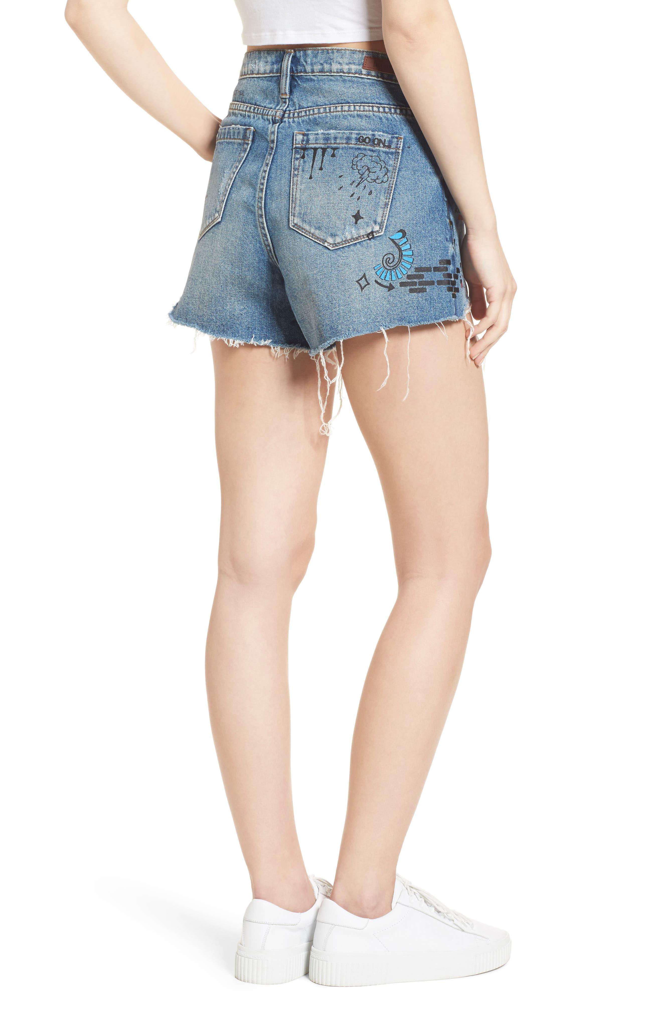 Alternate Image 2  - BLANKNYC Ms. Throwback Cutoff Denim Shorts
