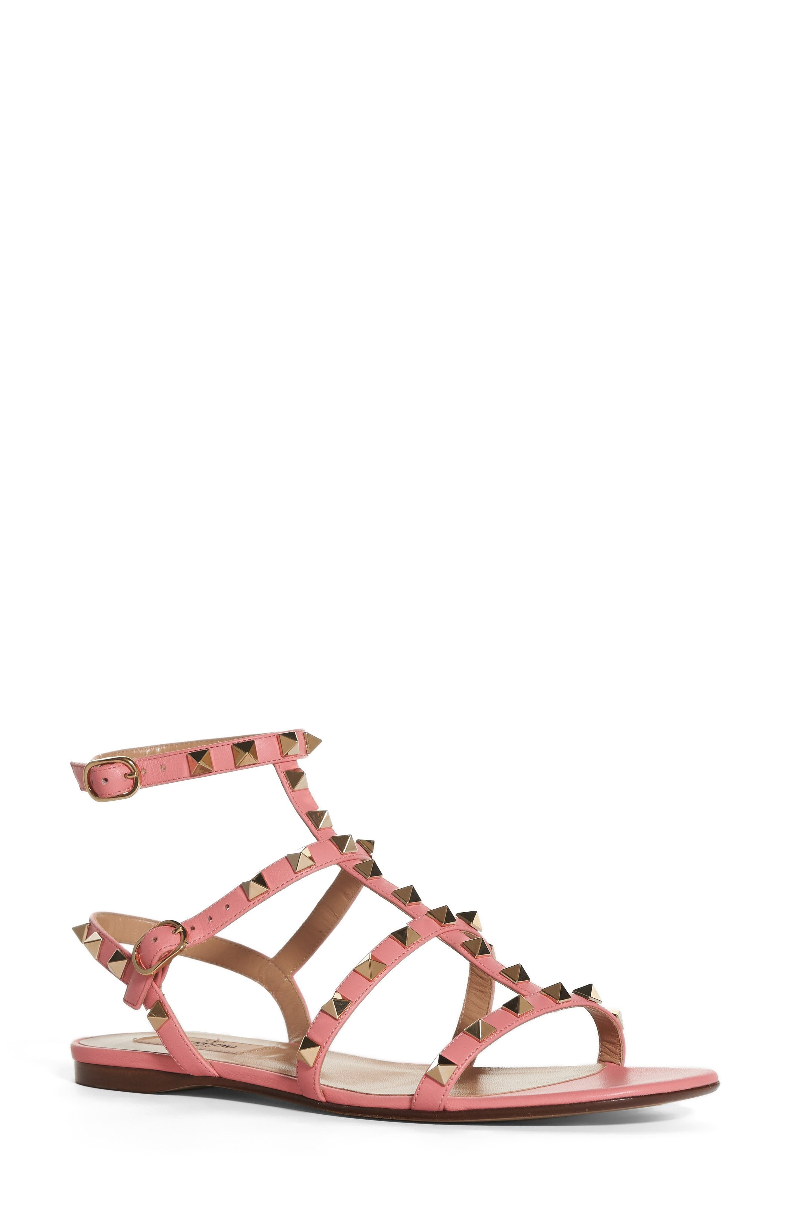 Valentino Rockstud Gladiator Sandal (Women)