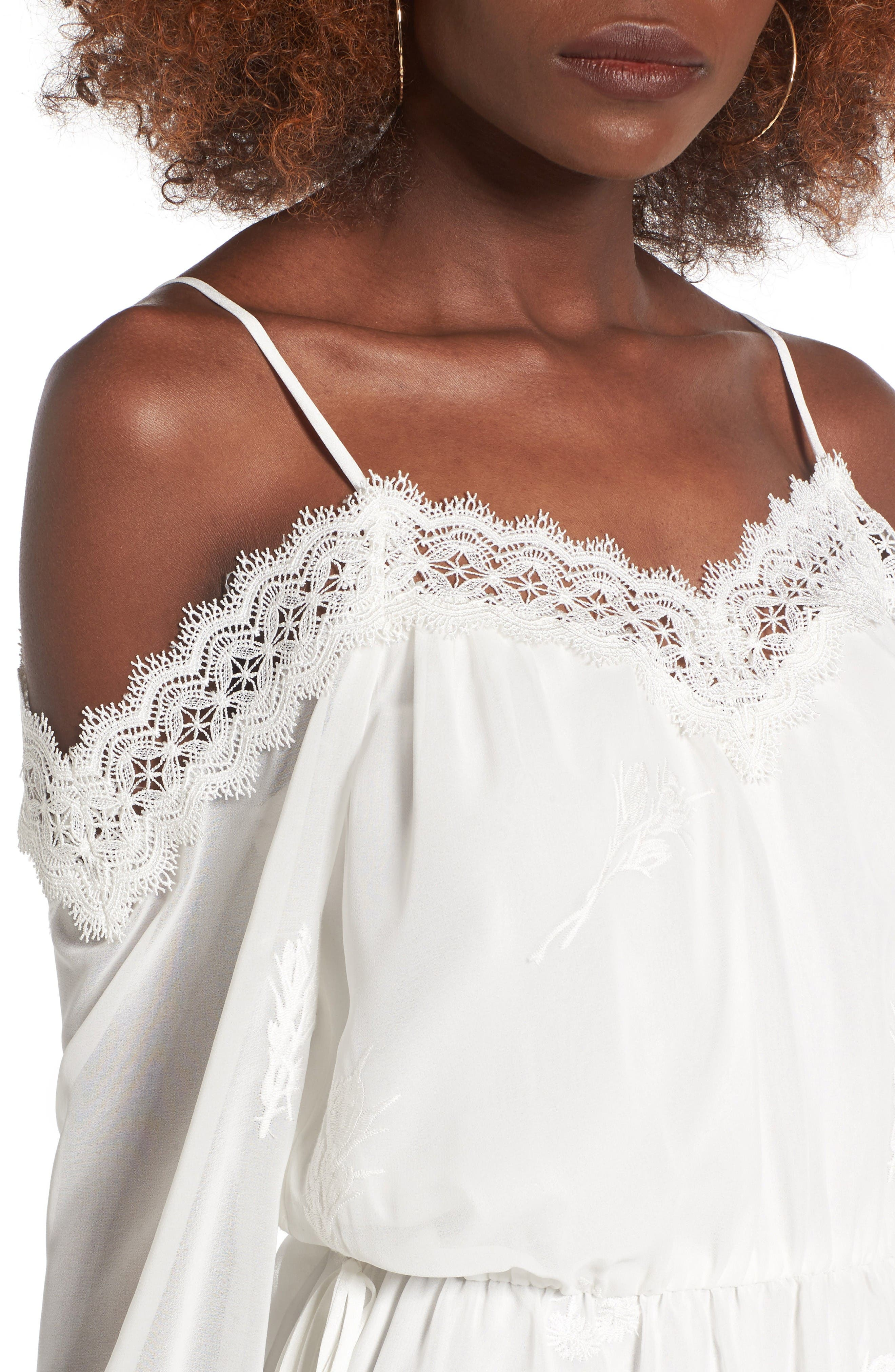Alternate Image 4  - WAYF Amelia Cold Shoulder Dress