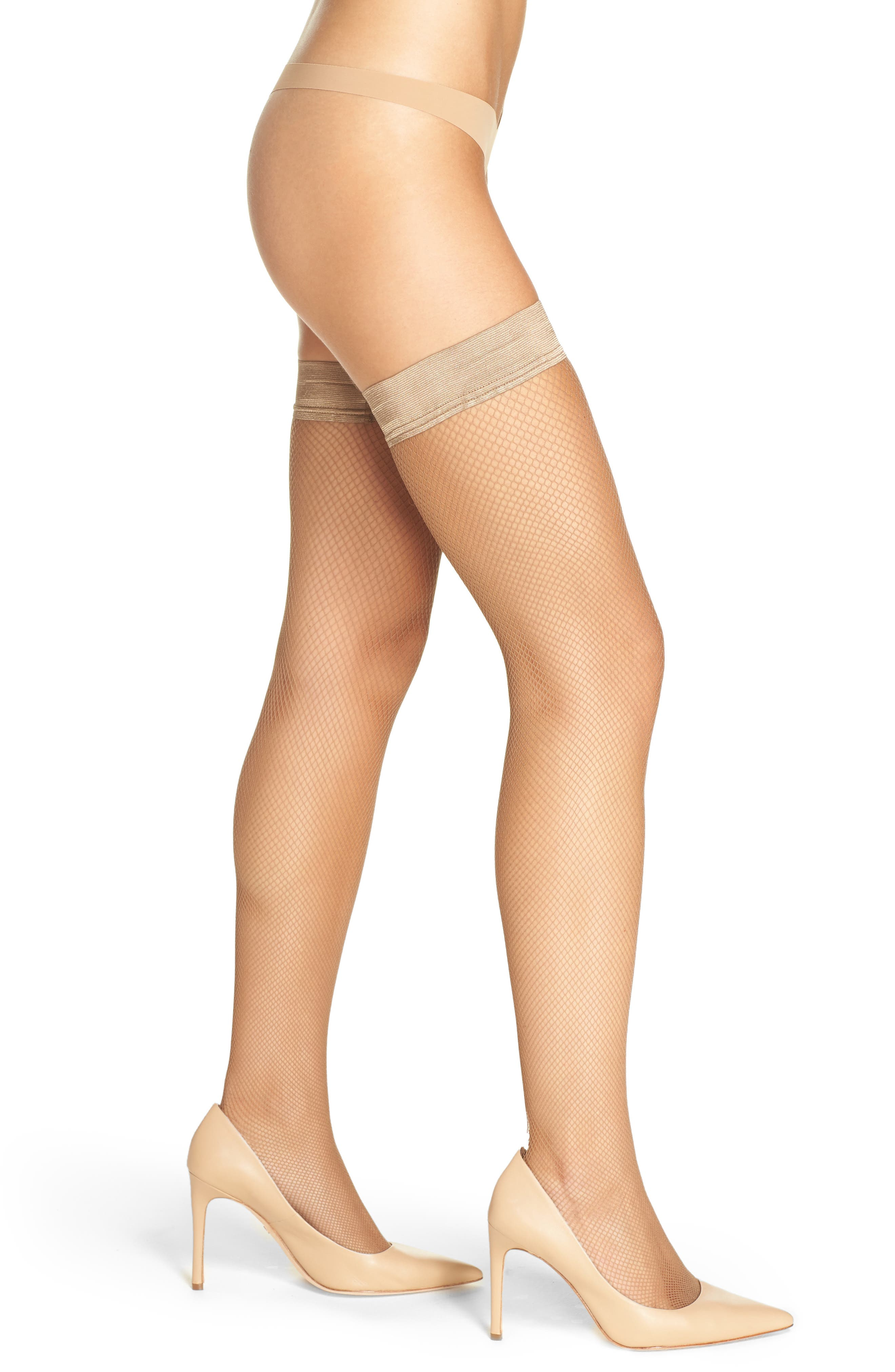Main Image - Oroblu 'Bas Tricot' Fishnet Stay-Up Stockings