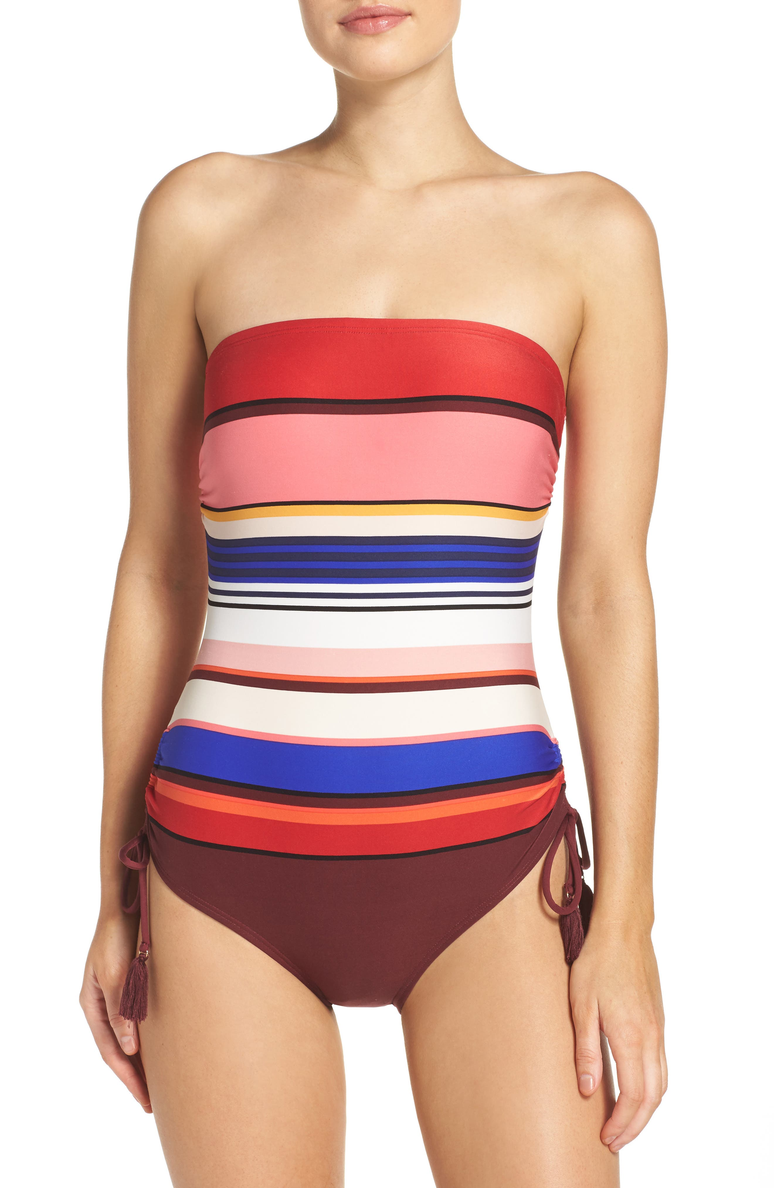 kate spade new york stripe one-piece swimsuit