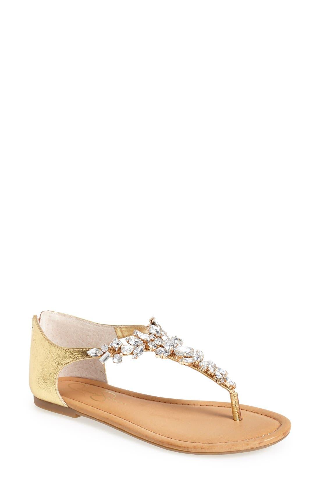 Alternate Image 1 Selected - Jessica Simpson 'Radient' Crystal Embellished Sandal (Women)