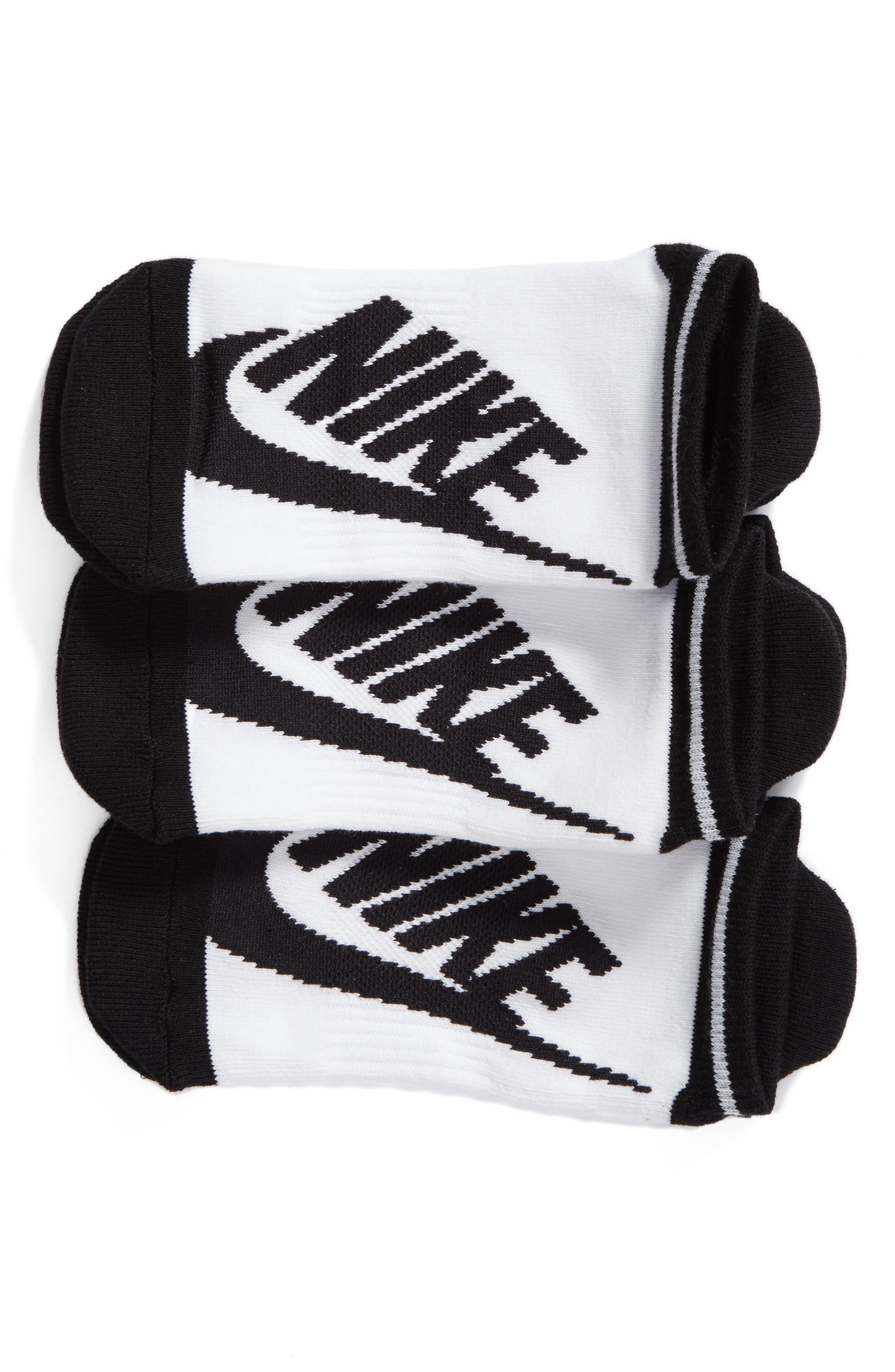 Nike Stripe 3-Pack No-Show Socks