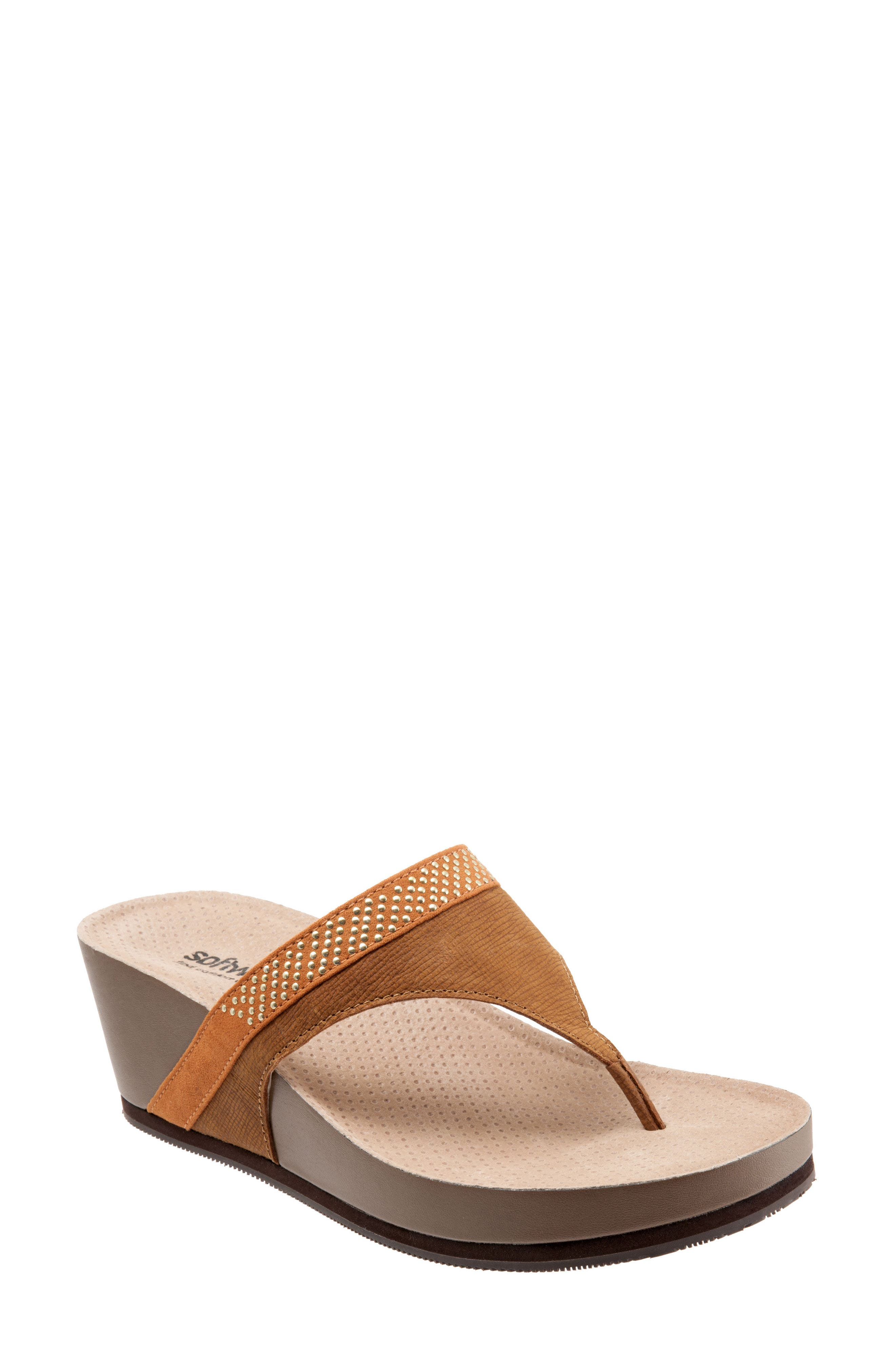 SoftWalk® Heights Wedge Slide Sandal (Women)