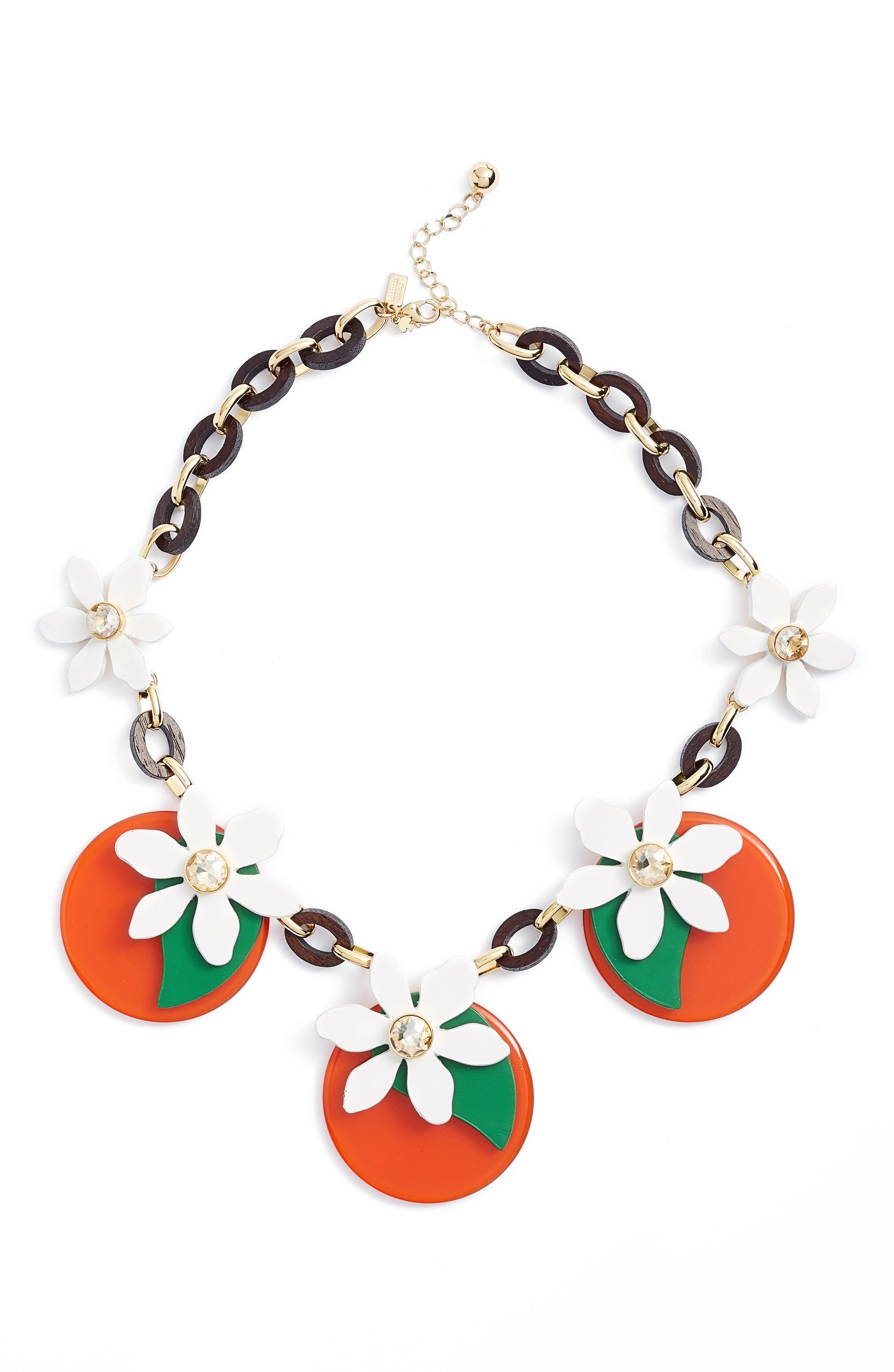 kate spade new york citrus crush statement necklace