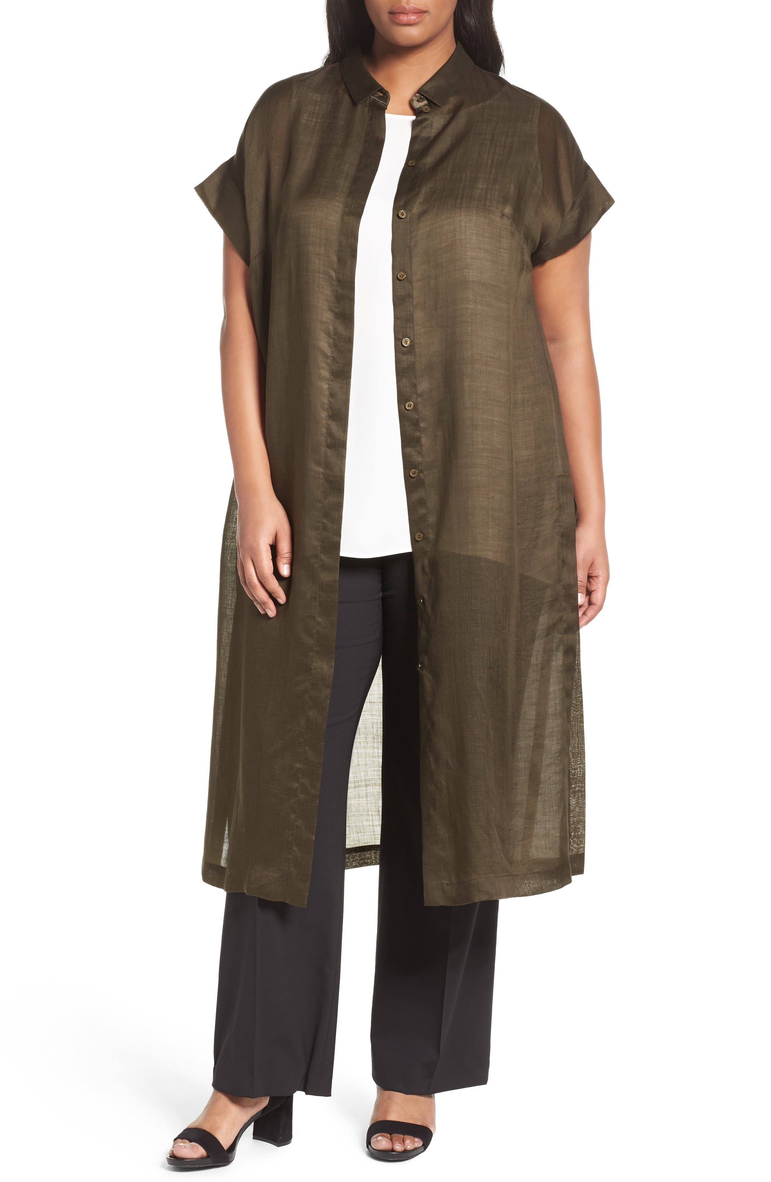 Lafayette 148 New York Antonella Tunic Blouse (Plus Size)
