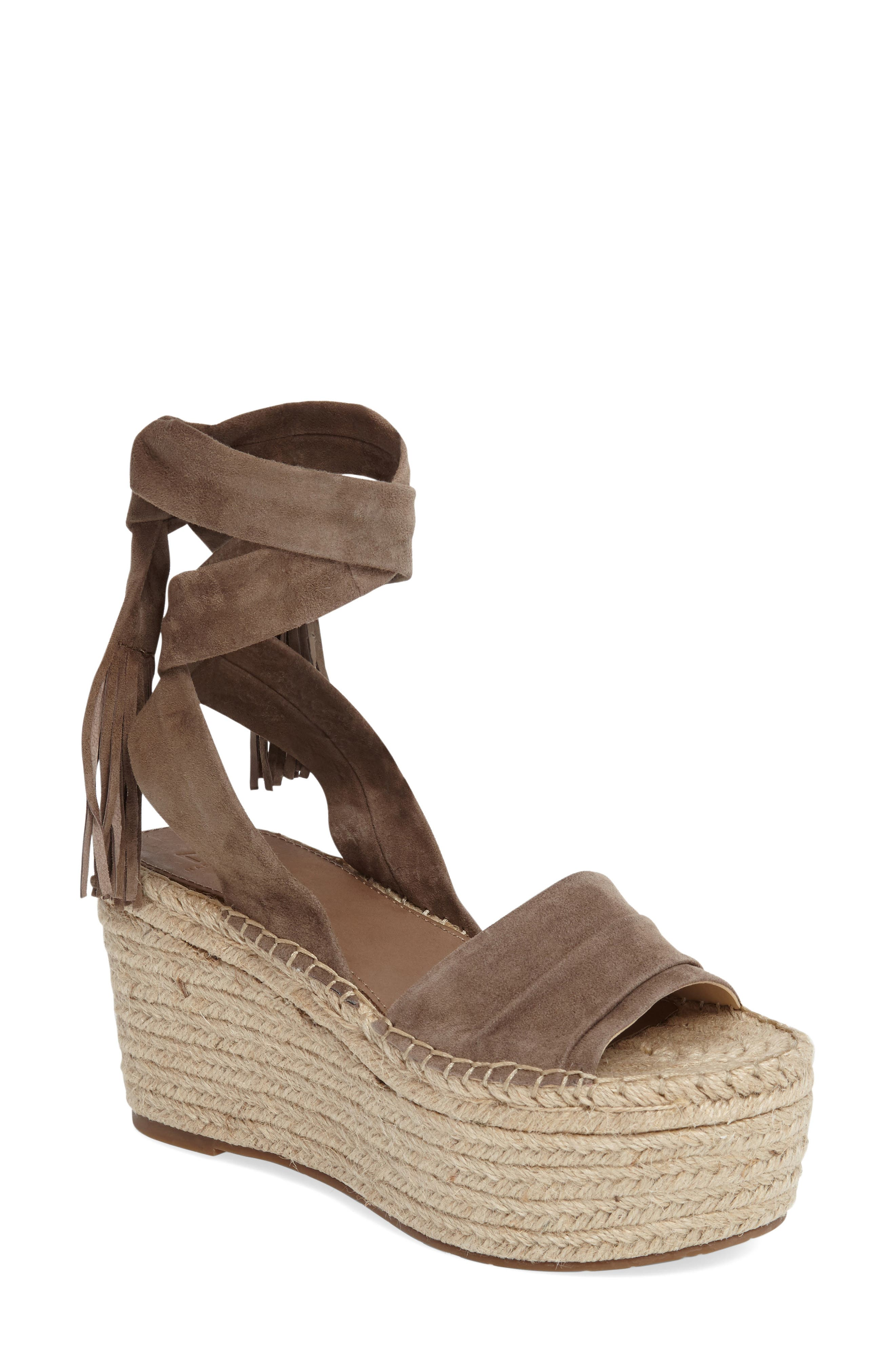 Alternate Image 1 Selected - Marc Fischer LTD Rabecca Lace-Up Platform Wedge (Women)