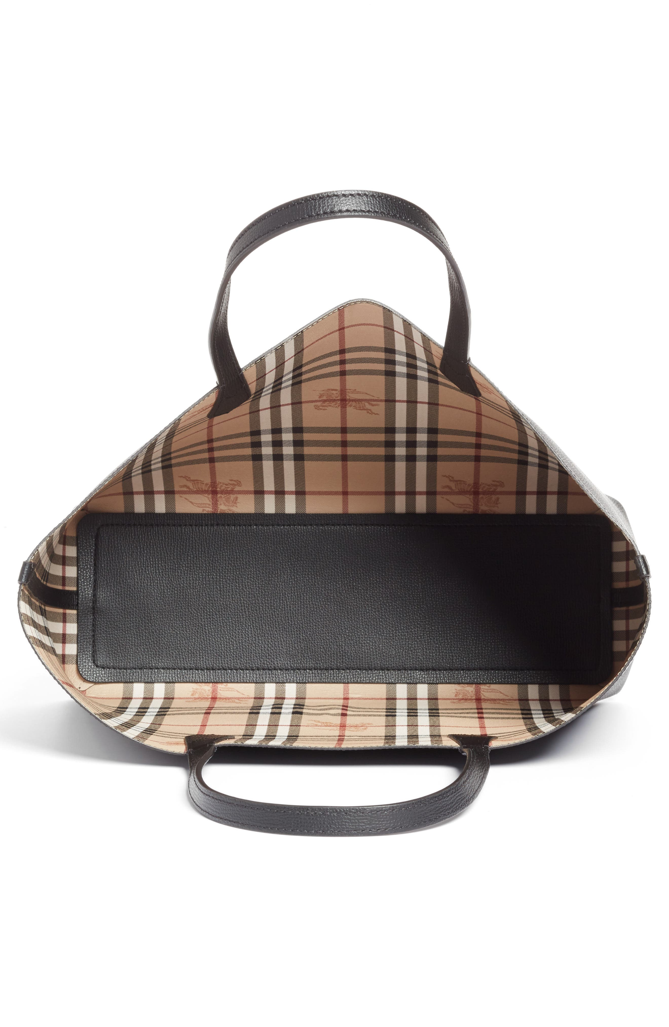 Alternate Image 4  - Burberry Medium Lavenby Reversible Calfskin Leather Tote