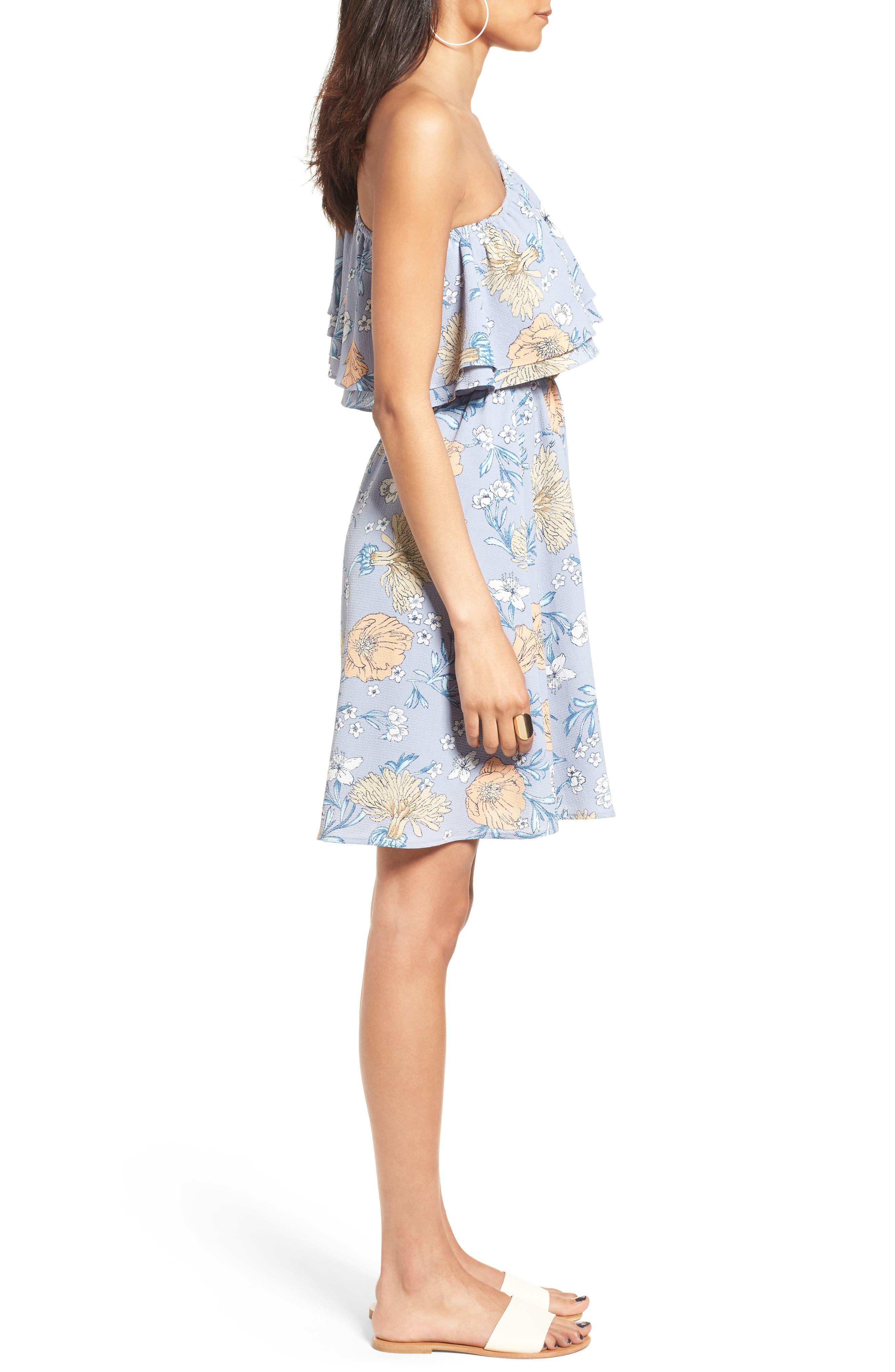 Alternate Image 3  - Lush Ruffle One-Shoulder Dress