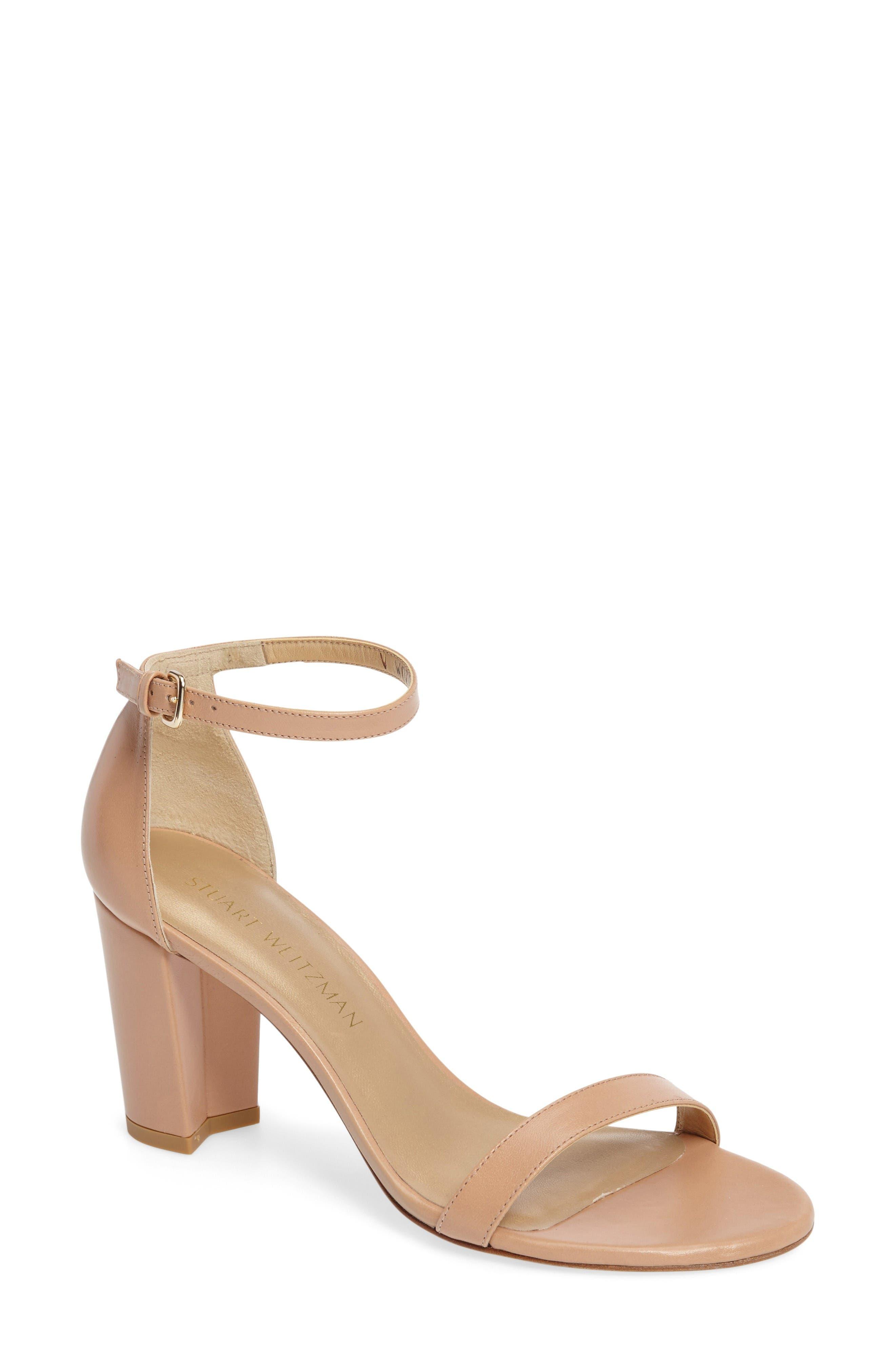 Main Image - Stuart Weitzman NearlyNude Ankle Strap Sandal (Women)