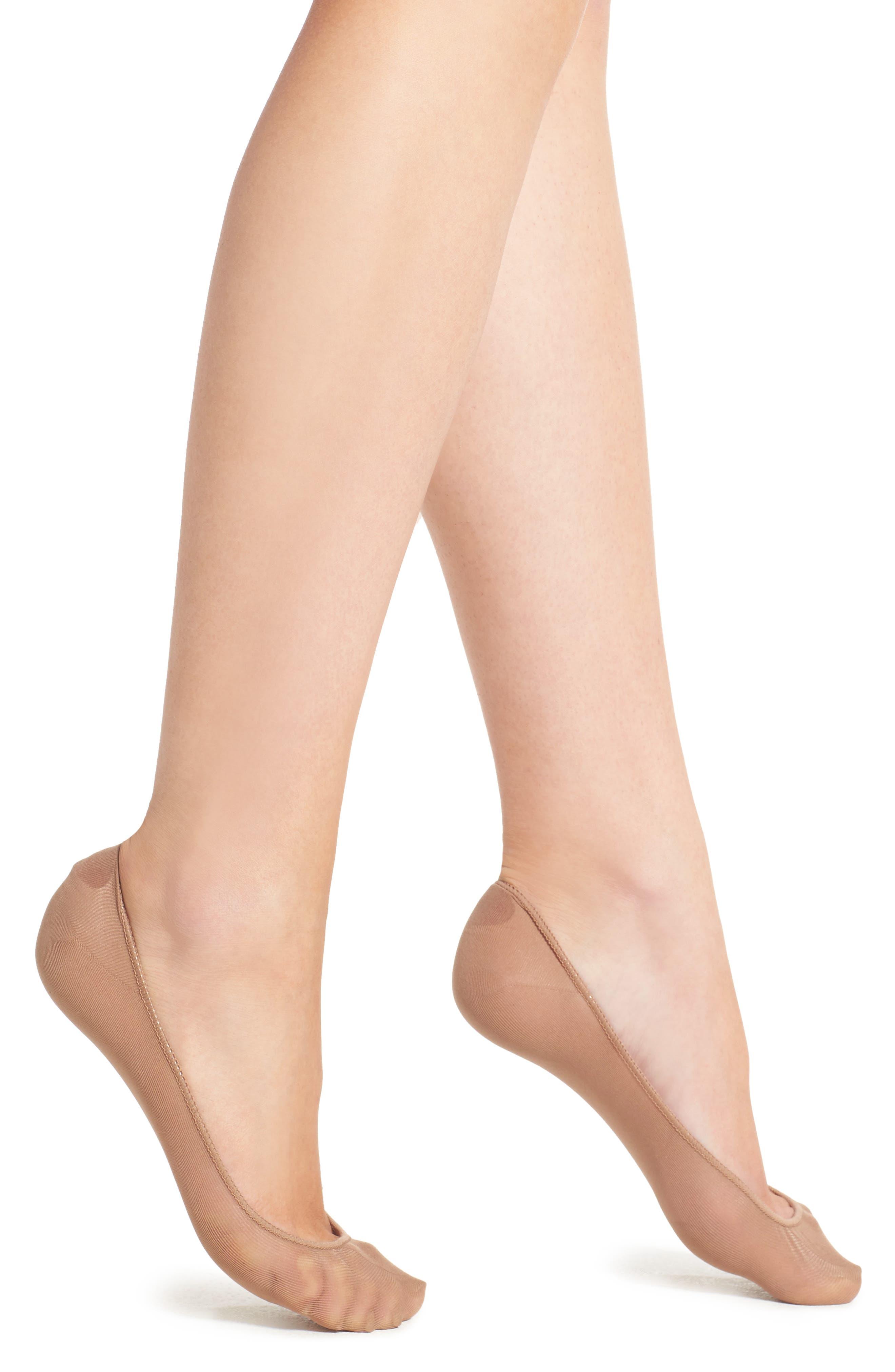 Alternate Image 1 Selected - Hue No-Show Socks (3 for $16)