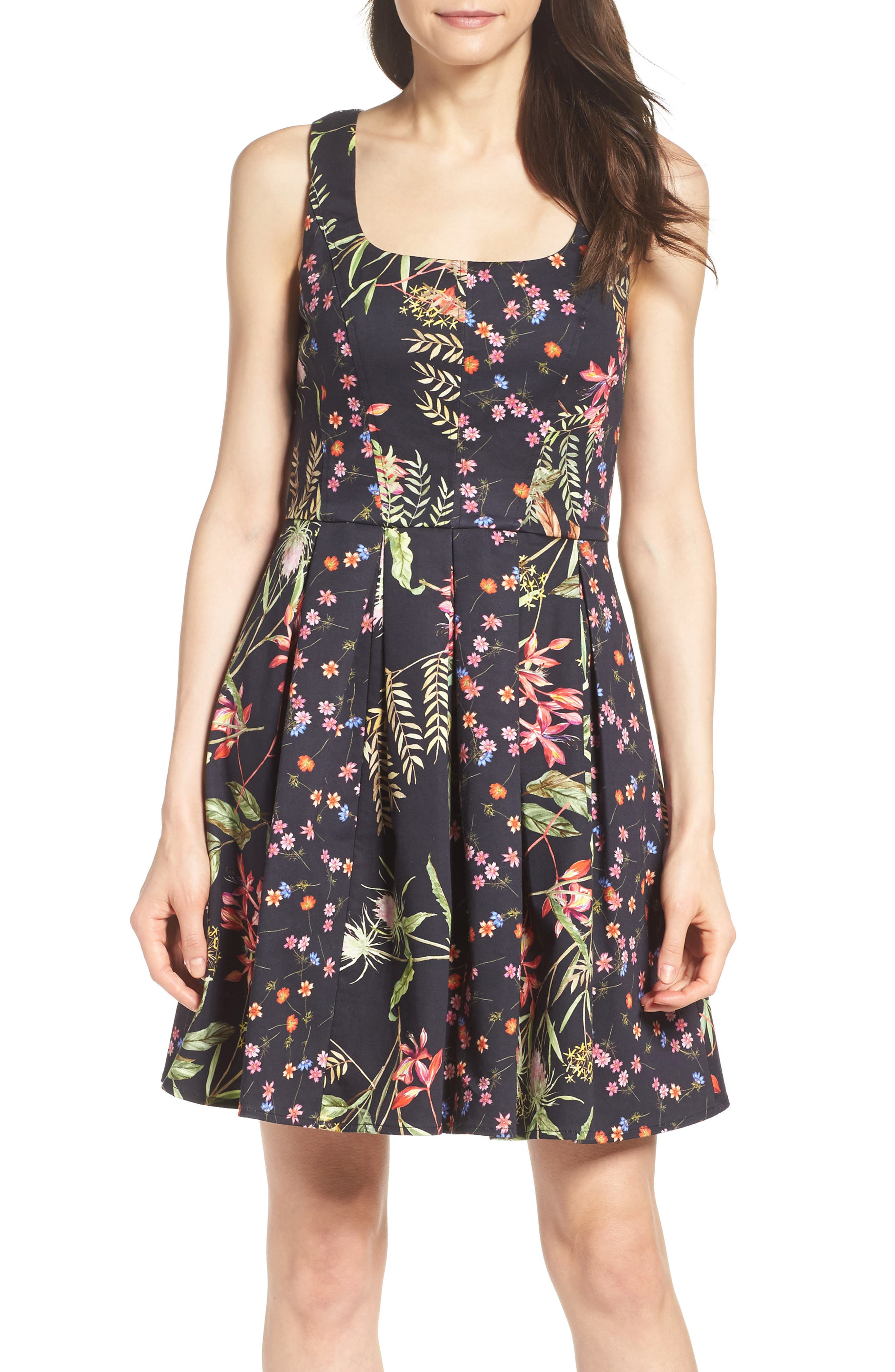 French Connection Bluhm & Botero Fit & Flare Dress