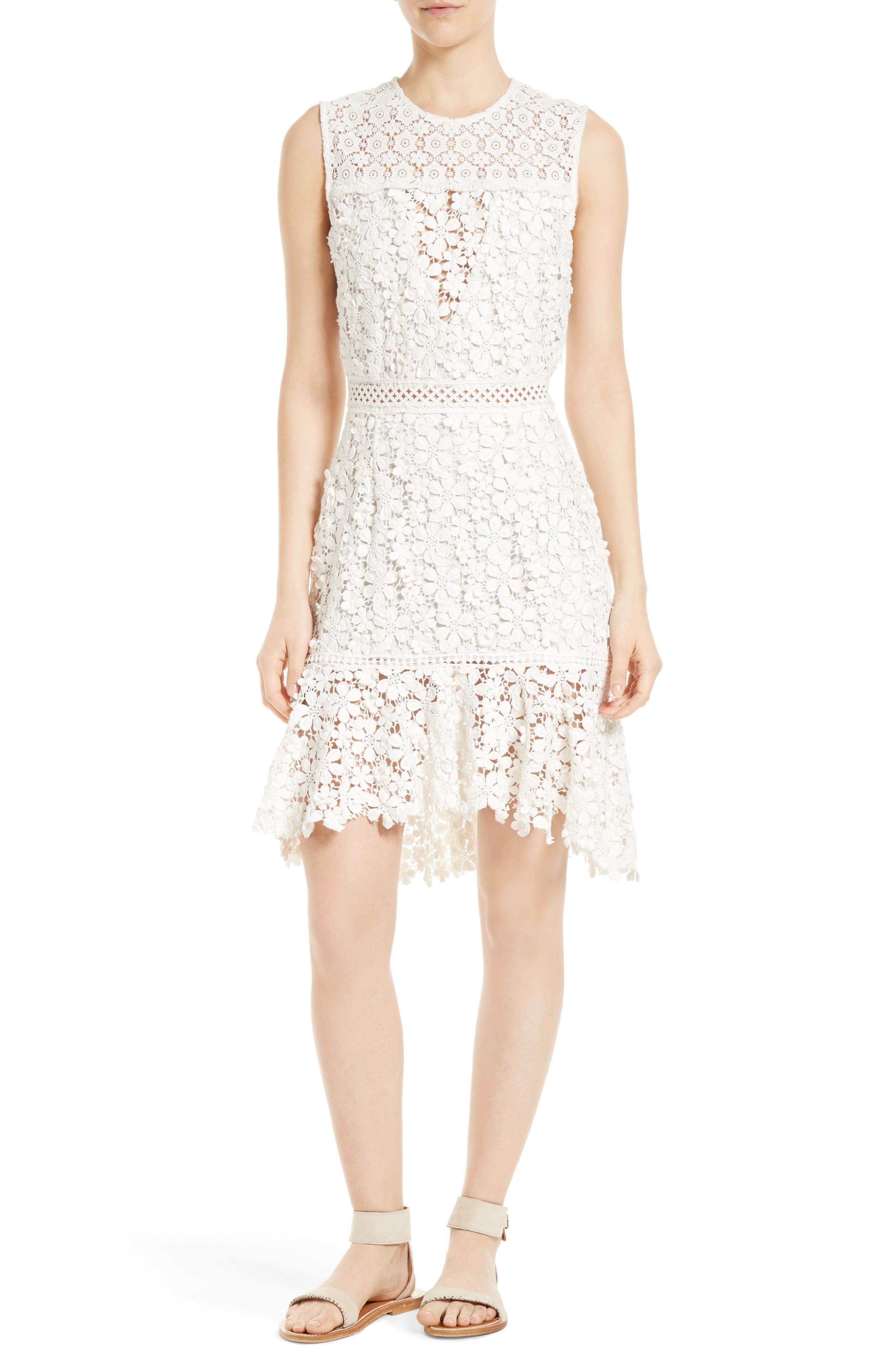 Main Image - Sea 3D Crochet Sheath Dress
