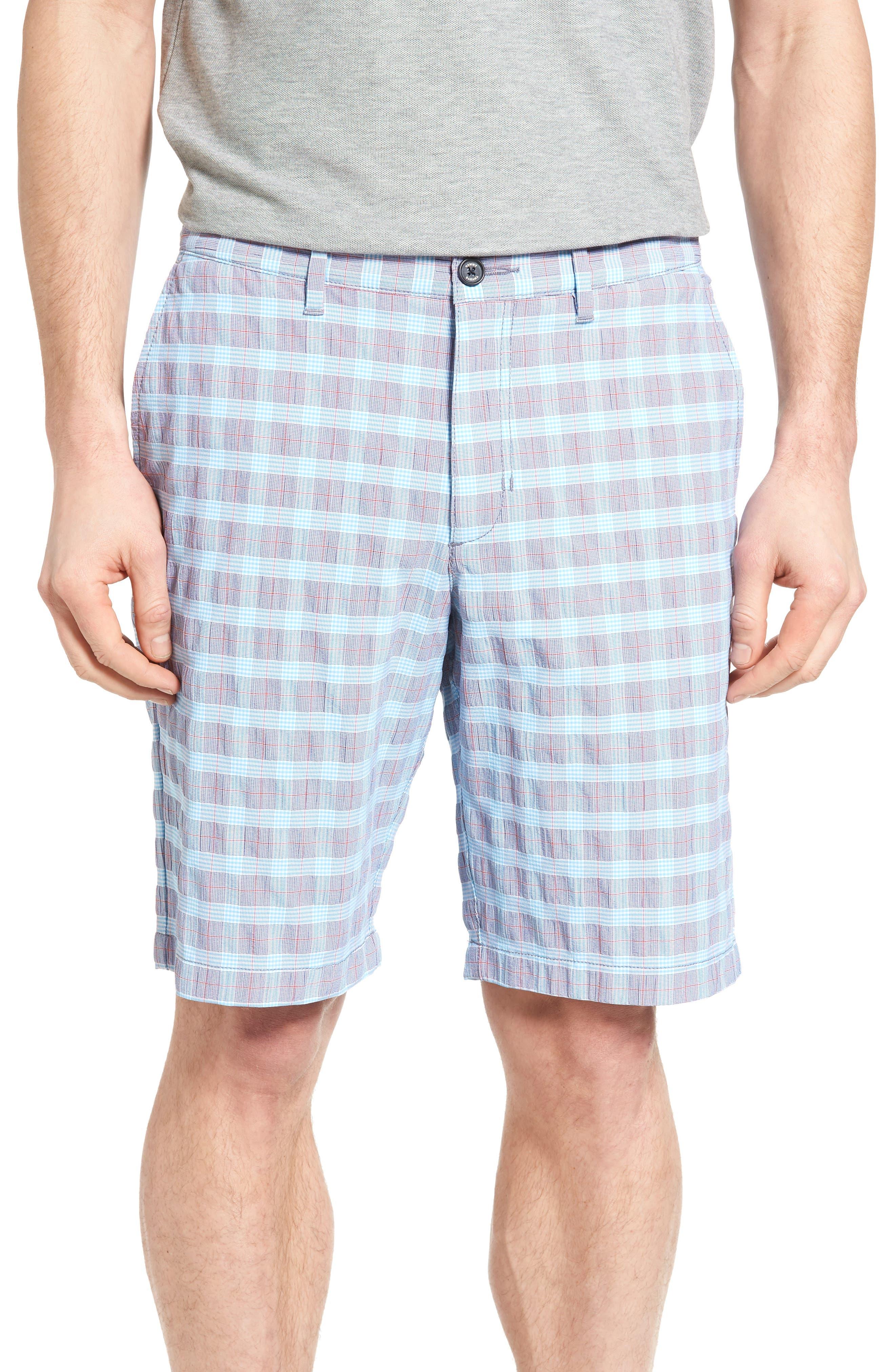 Tommy Bahama Check Shot Flat Front Shorts
