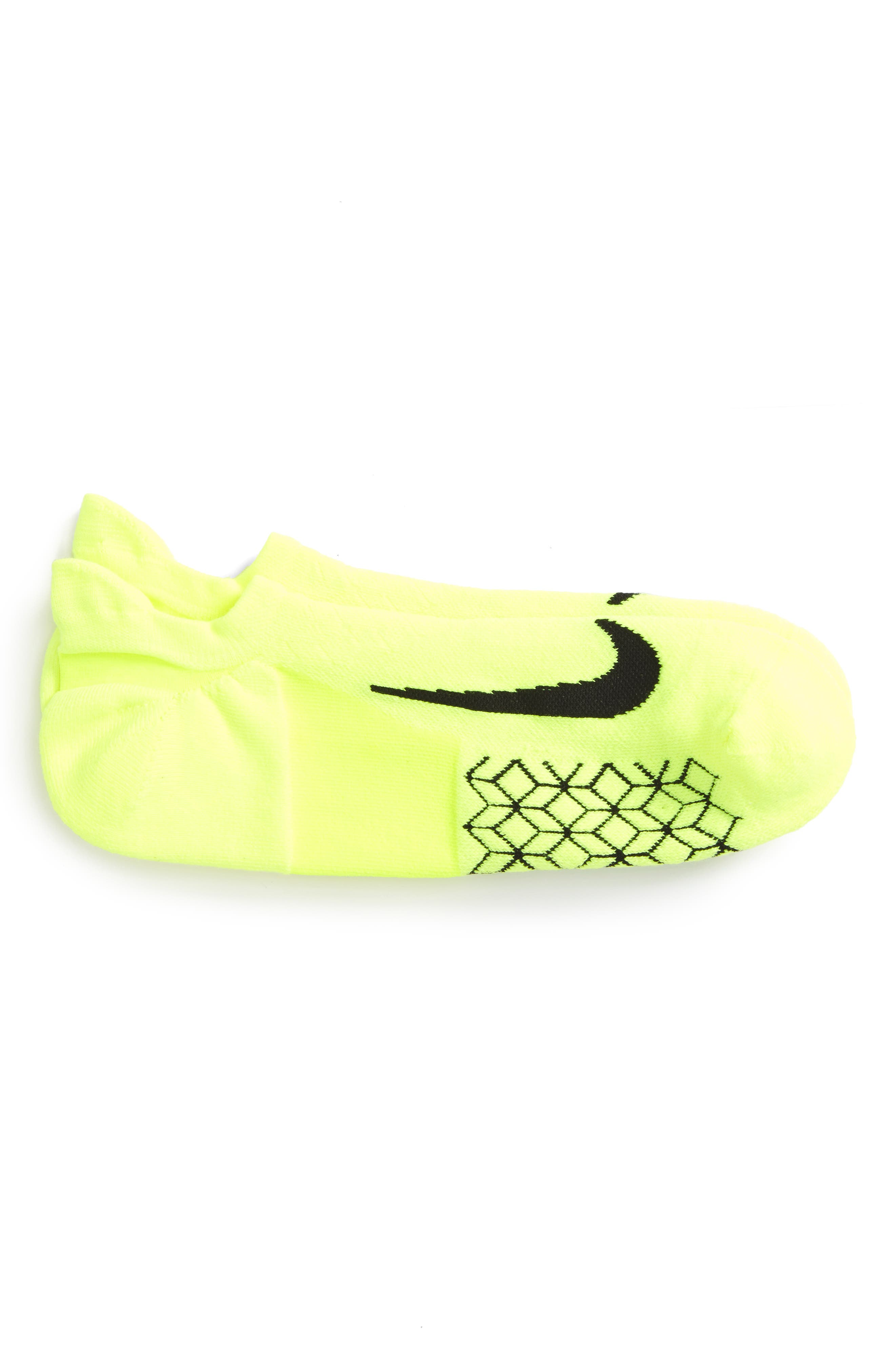 Nike Elite Cushioned No-Show Tab Running Socks