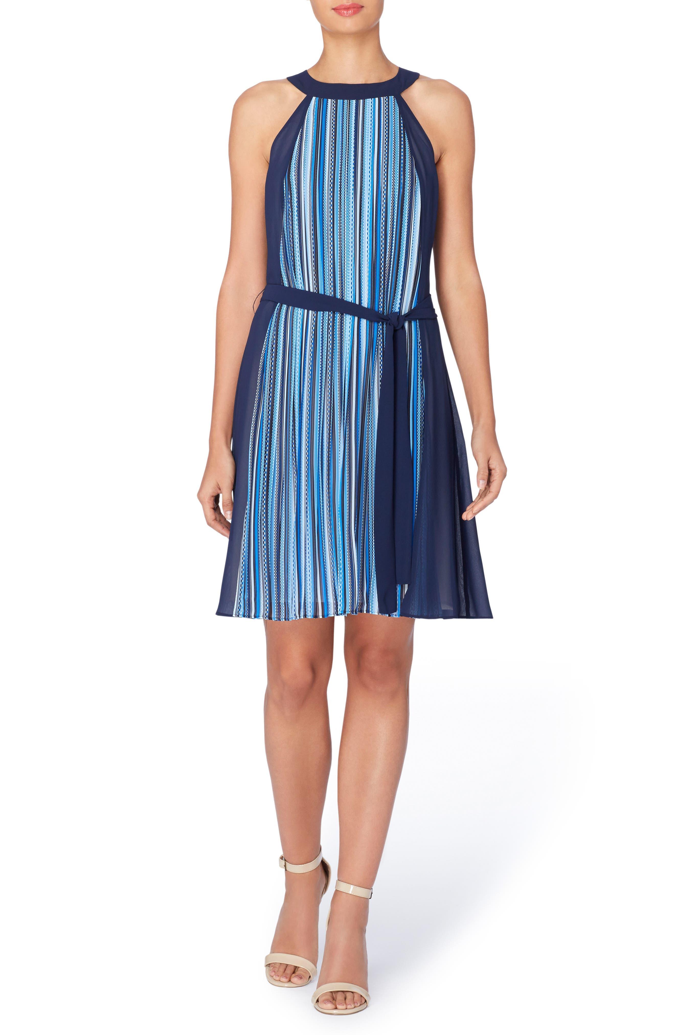 Catherine Catherine Malandrino Chazz Stripe A-Line Dress