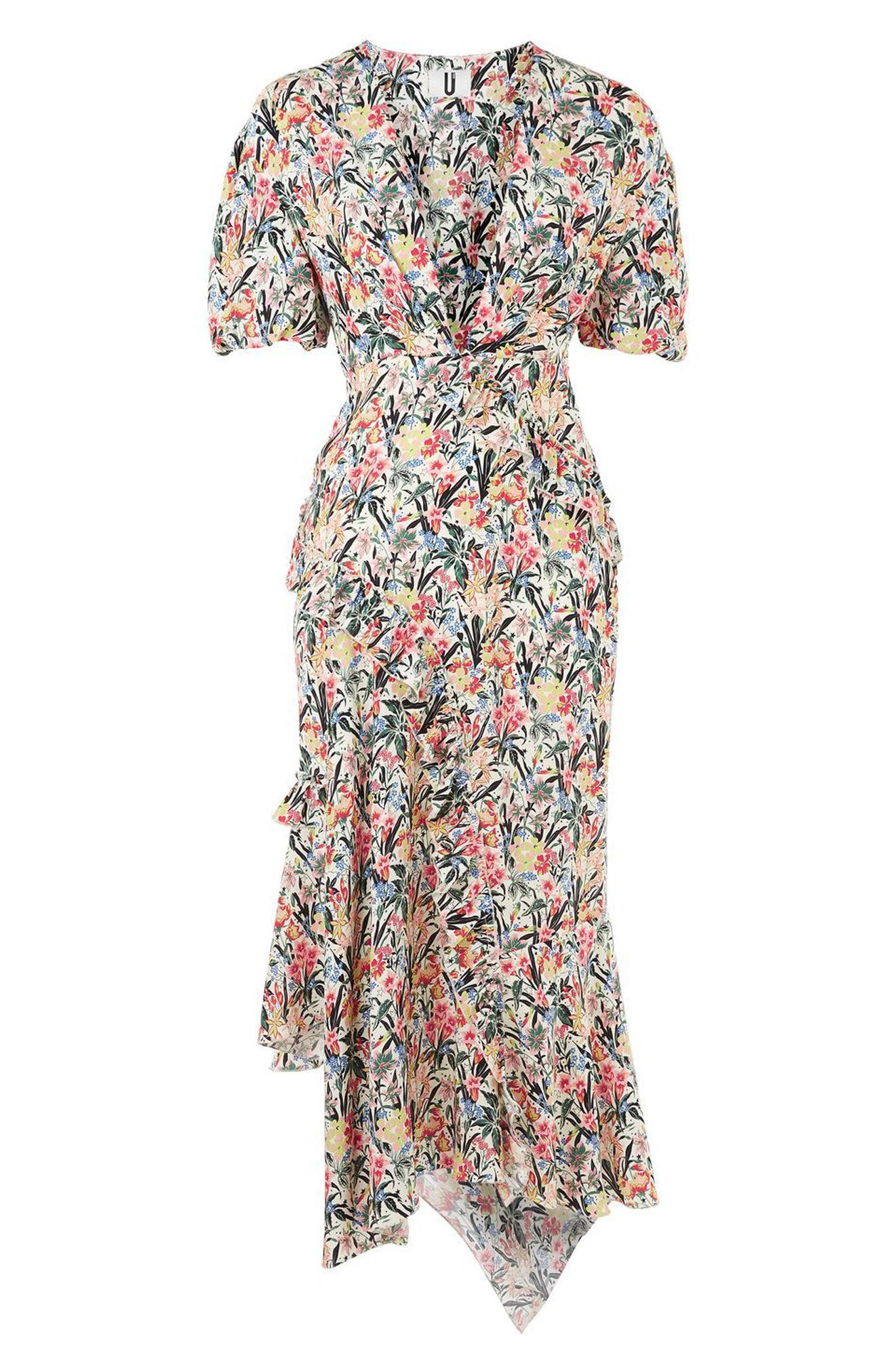 Alternate Image 6  - Topshop Unique Aster Silk Midi Dress