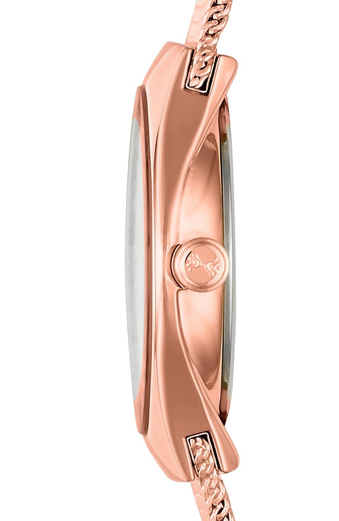 Alternate Image 3  - Skagen Small Round Mesh Strap Watch, 24mm