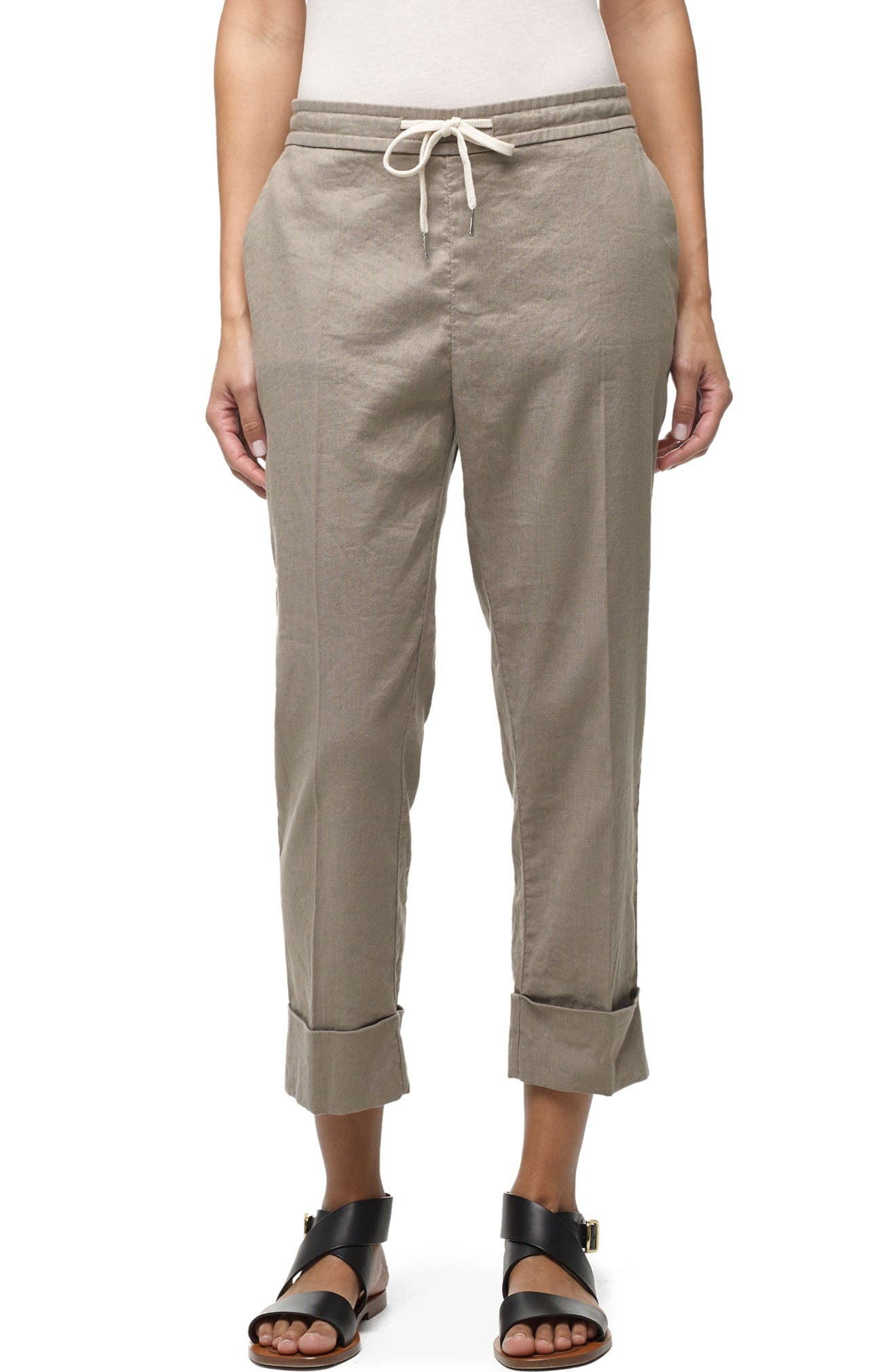 James Perse Cuffed Crop Pants