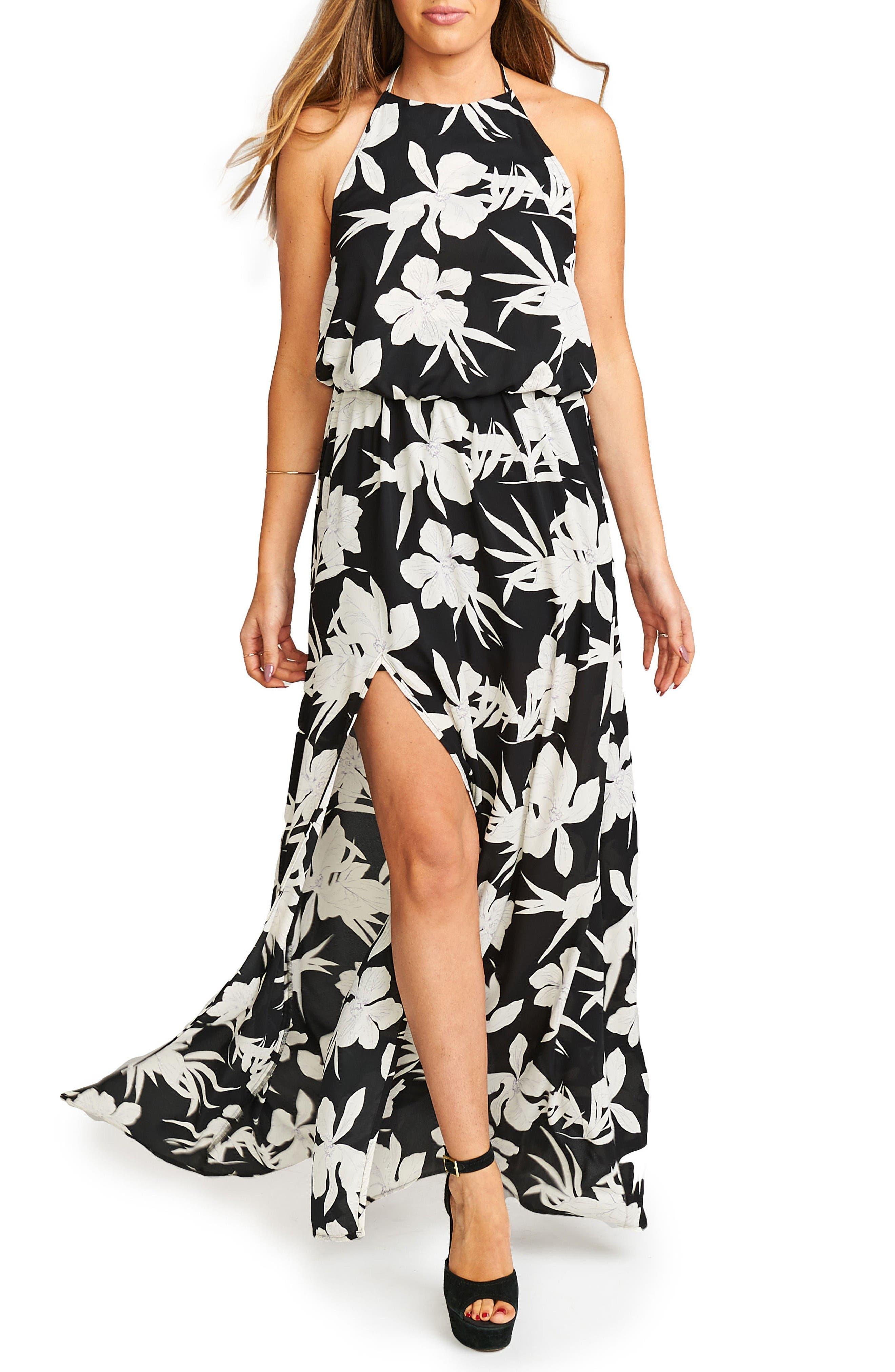 Show Me Your Mumu Heather Chiffon Halter Gown