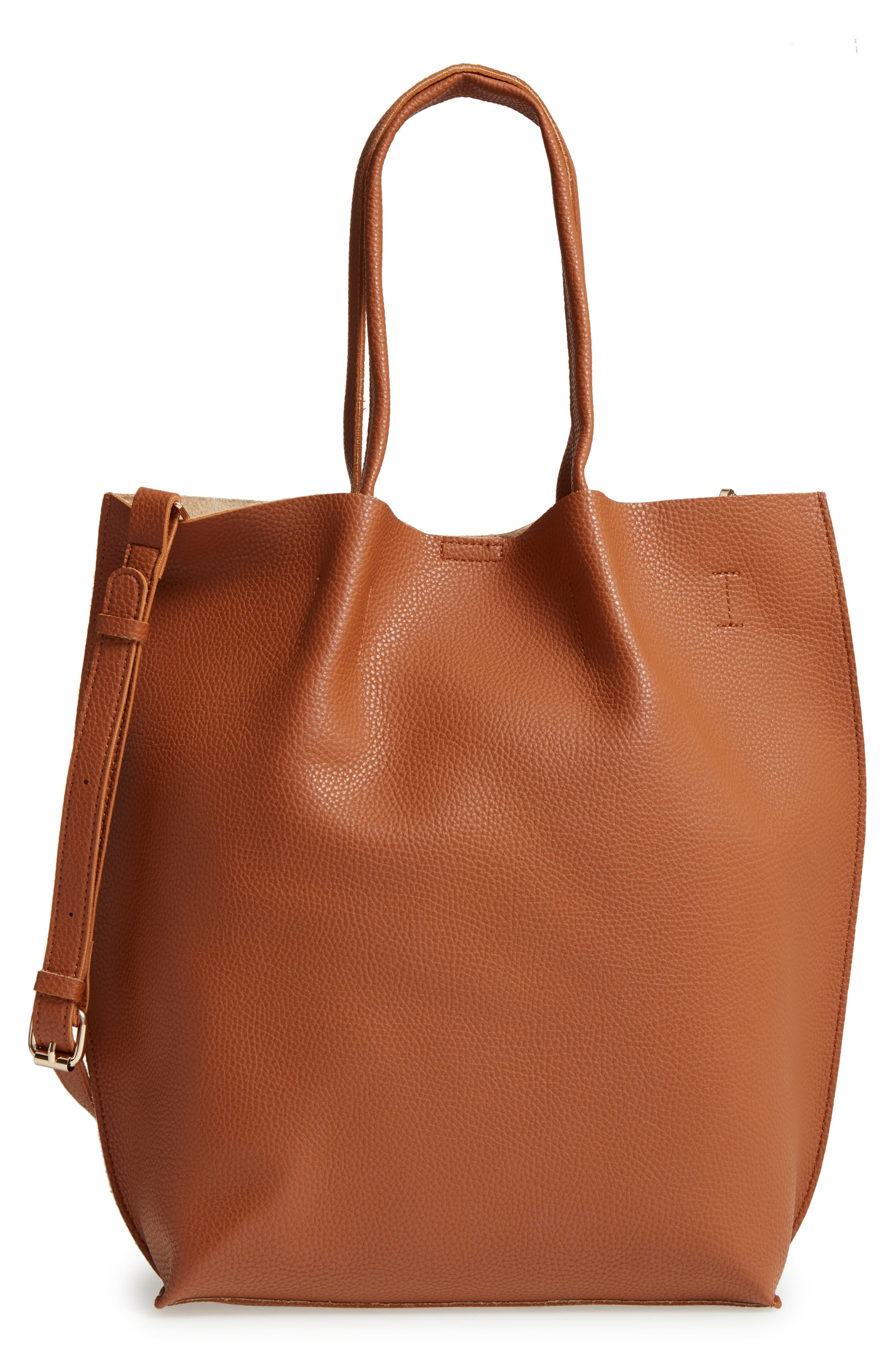 Alternate Image 1 Selected - Sole Society Gramercy Faux Leather Tote