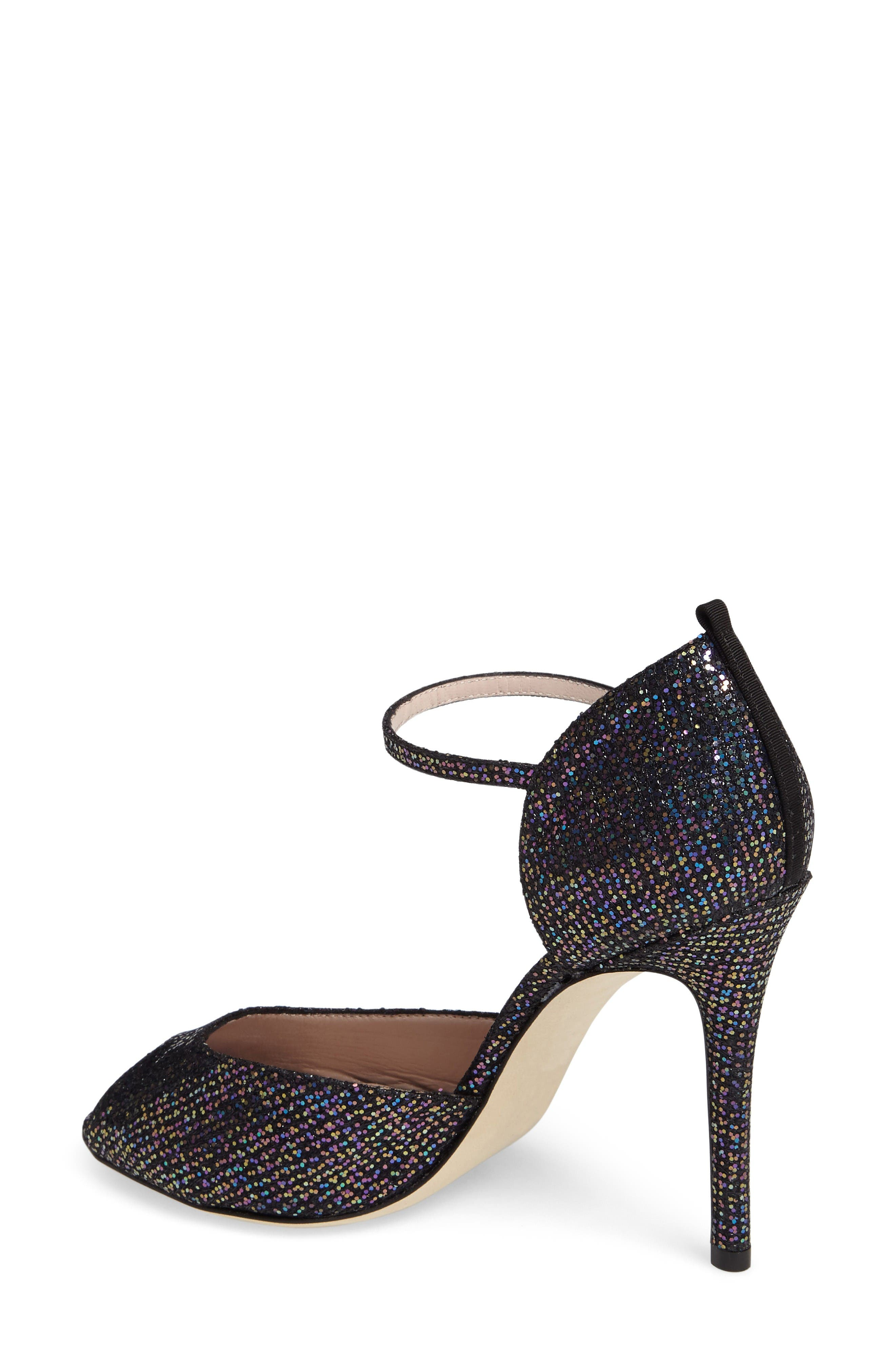 Alternate Image 2  - SJP by Sarah Jessica Parker by Sarah Jessica Parker 'Ursula' Open Toe d'Orsay Metallic Leather Pump