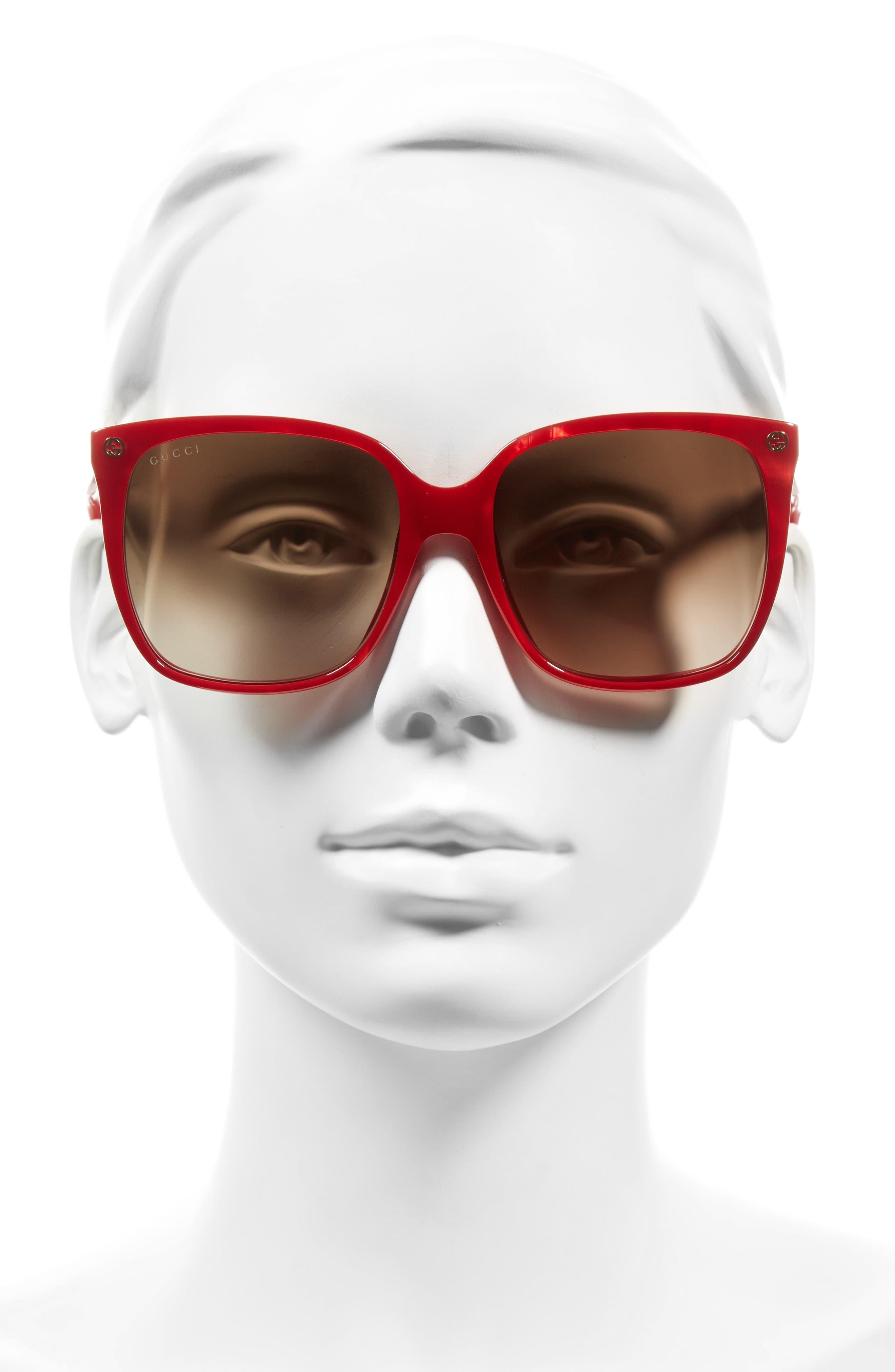 Alternate Image 2  - Gucci 57mm Square Sunglasses