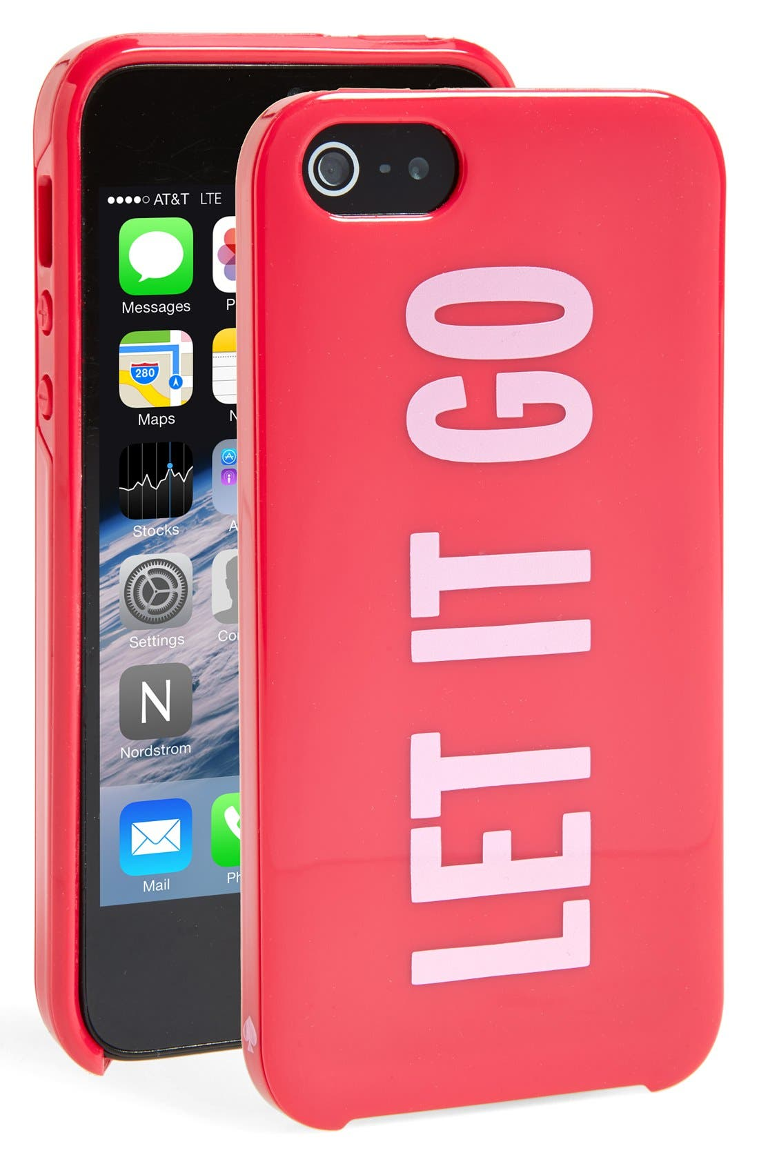 Alternate Image 1 Selected - kate spade new york 'let it go' print iPhone 5 & 5s hard shell case