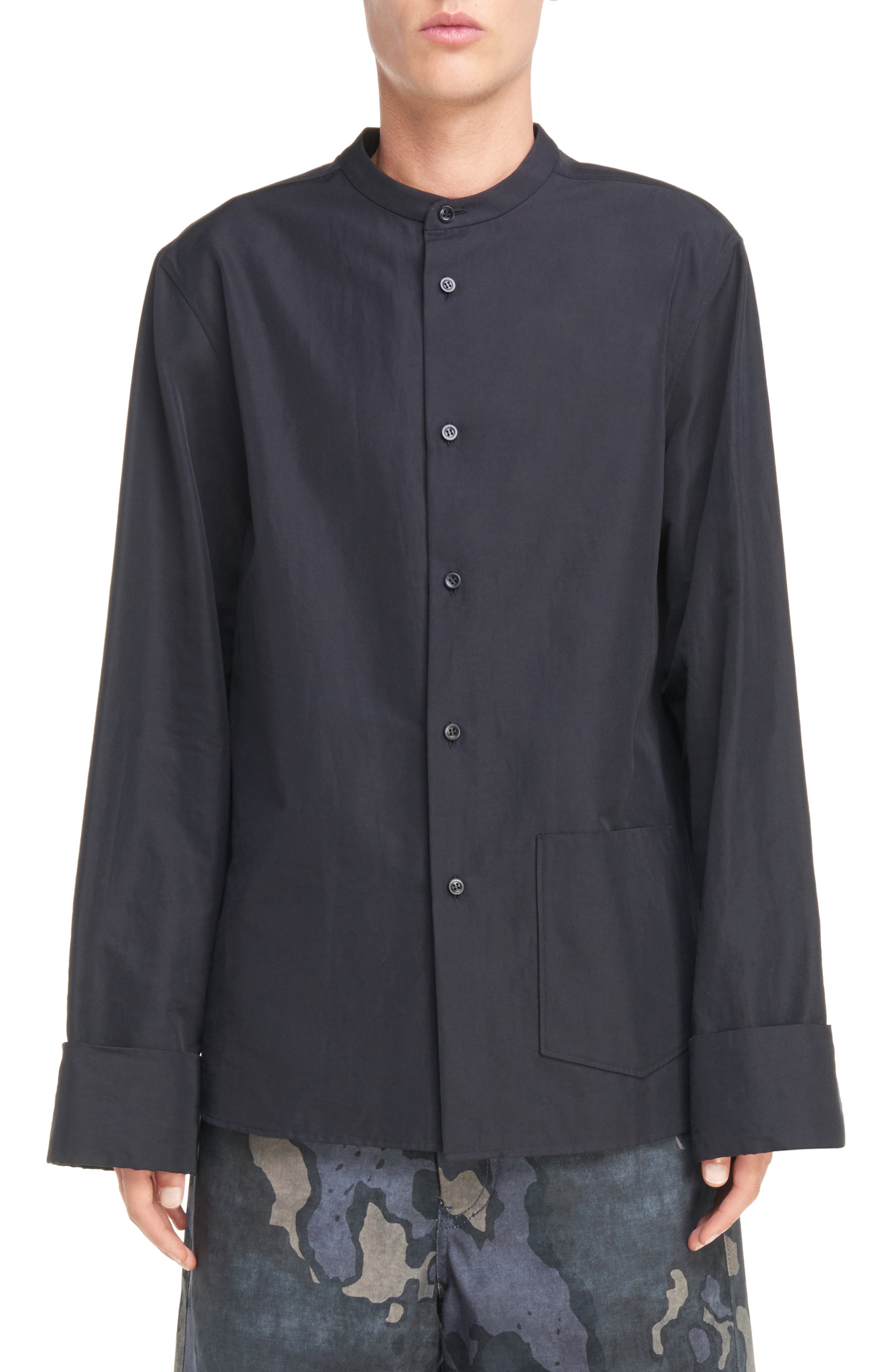 ACNE STUDIOS Maple Oversize Mandarin Collar Shirt
