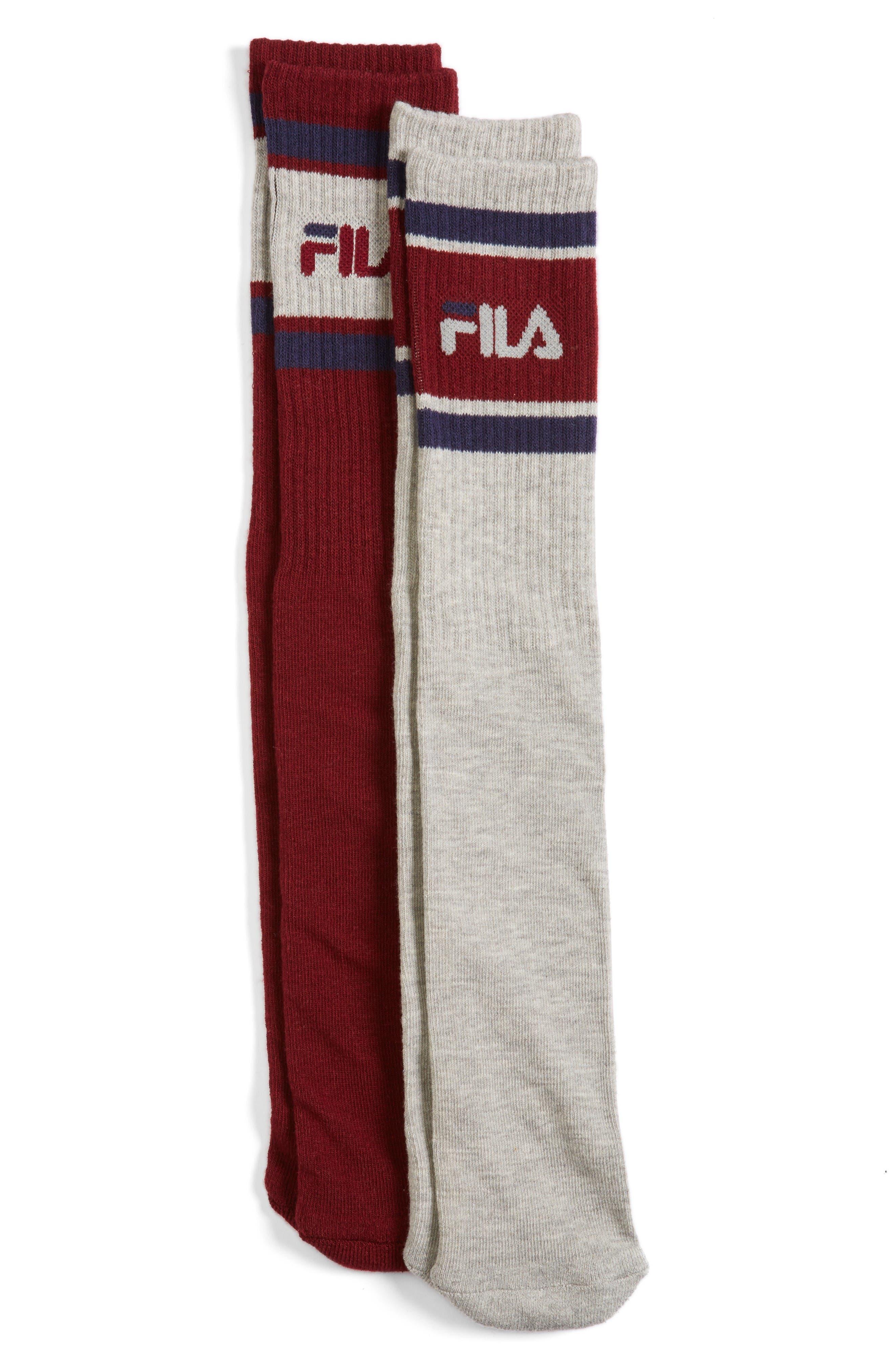 FILA 2-Pack Tube Socks
