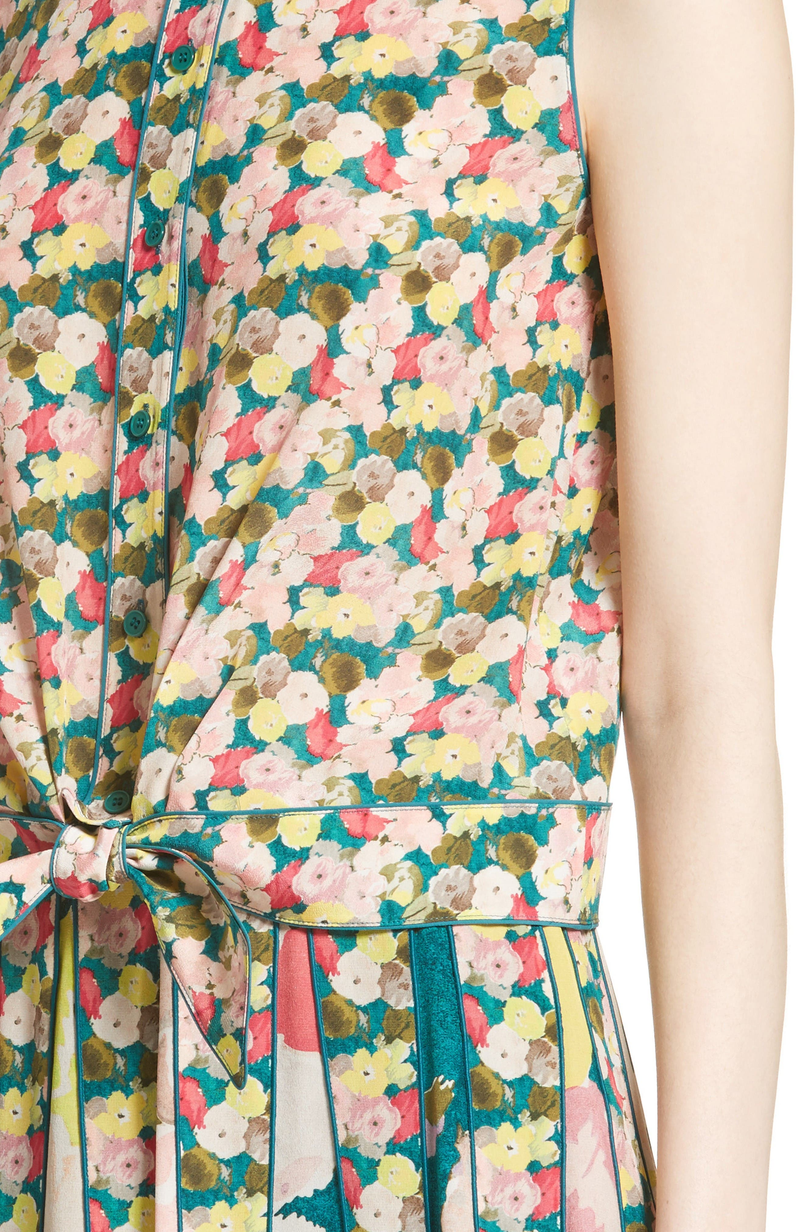 Alternate Image 6  - Lafayette 148 New York Tisha Floral Silk Blouse