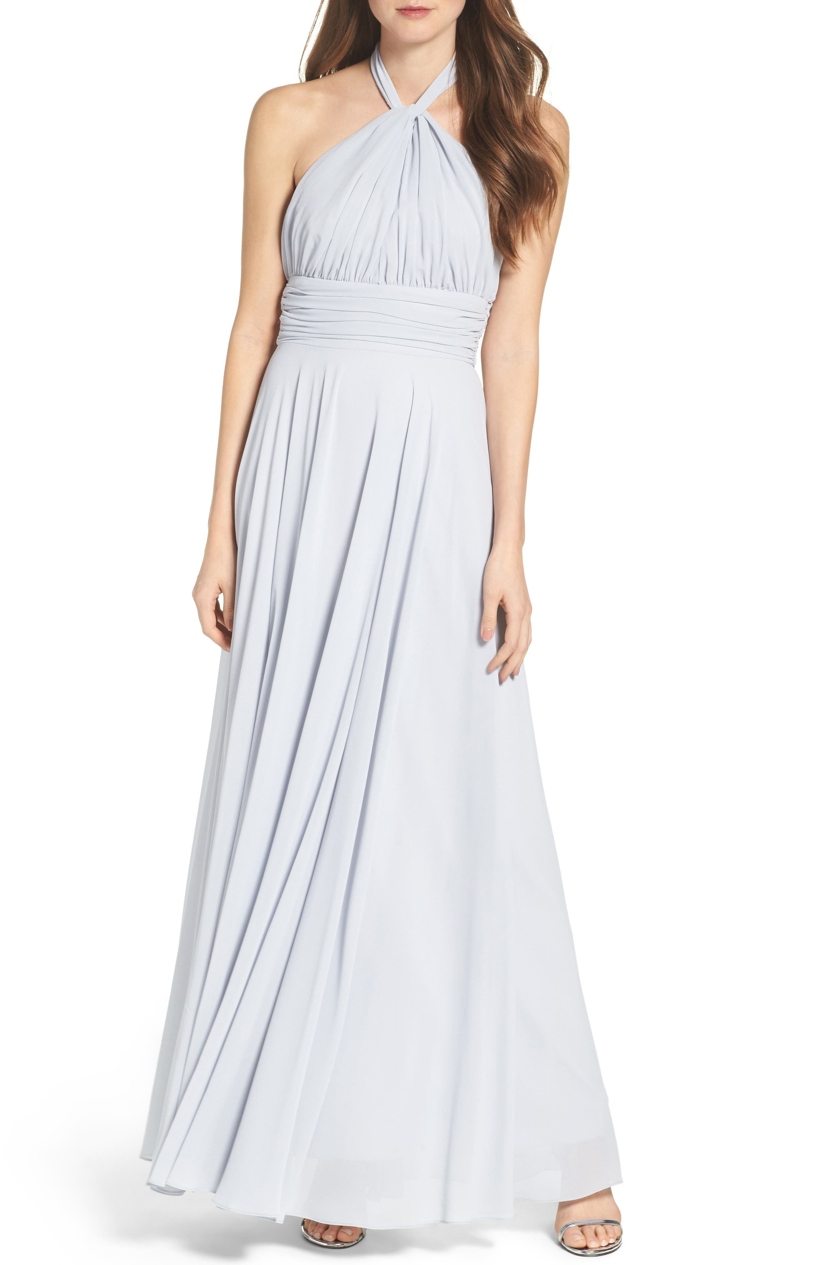 Alternate Image 1 Selected - Lulus Chiffon Halter Gown