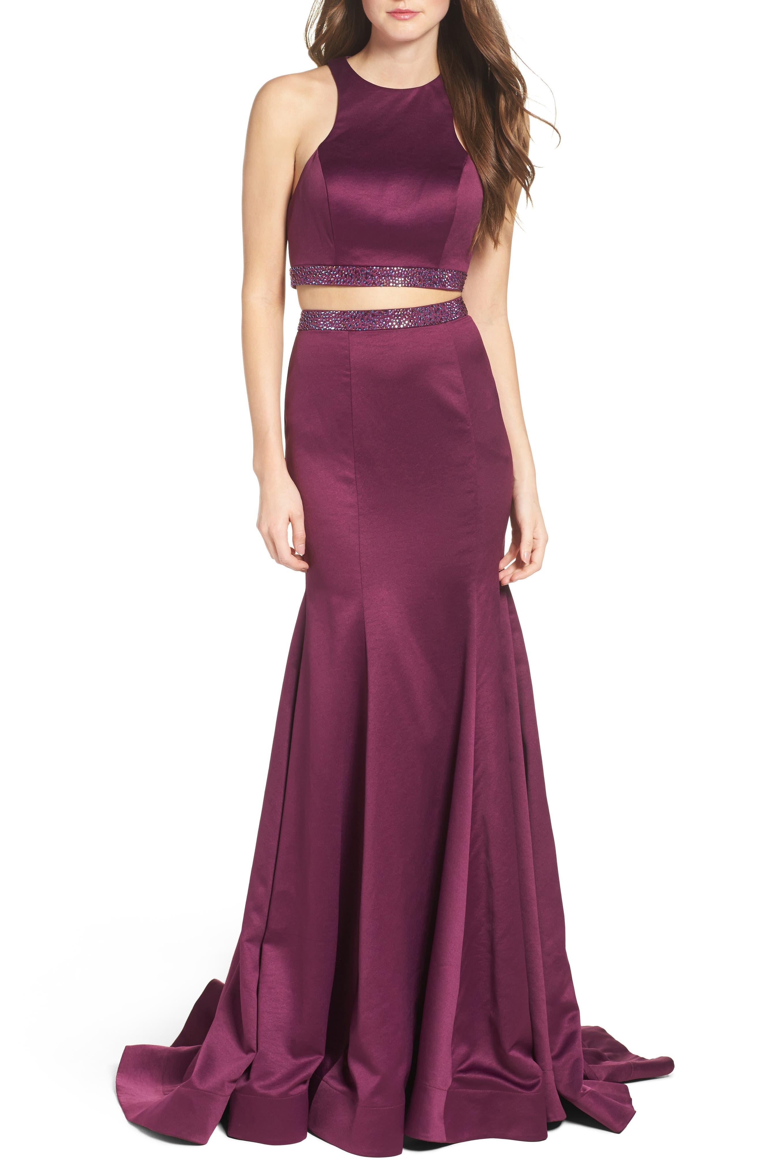 La Femme Two-Piece Mermaid Gown