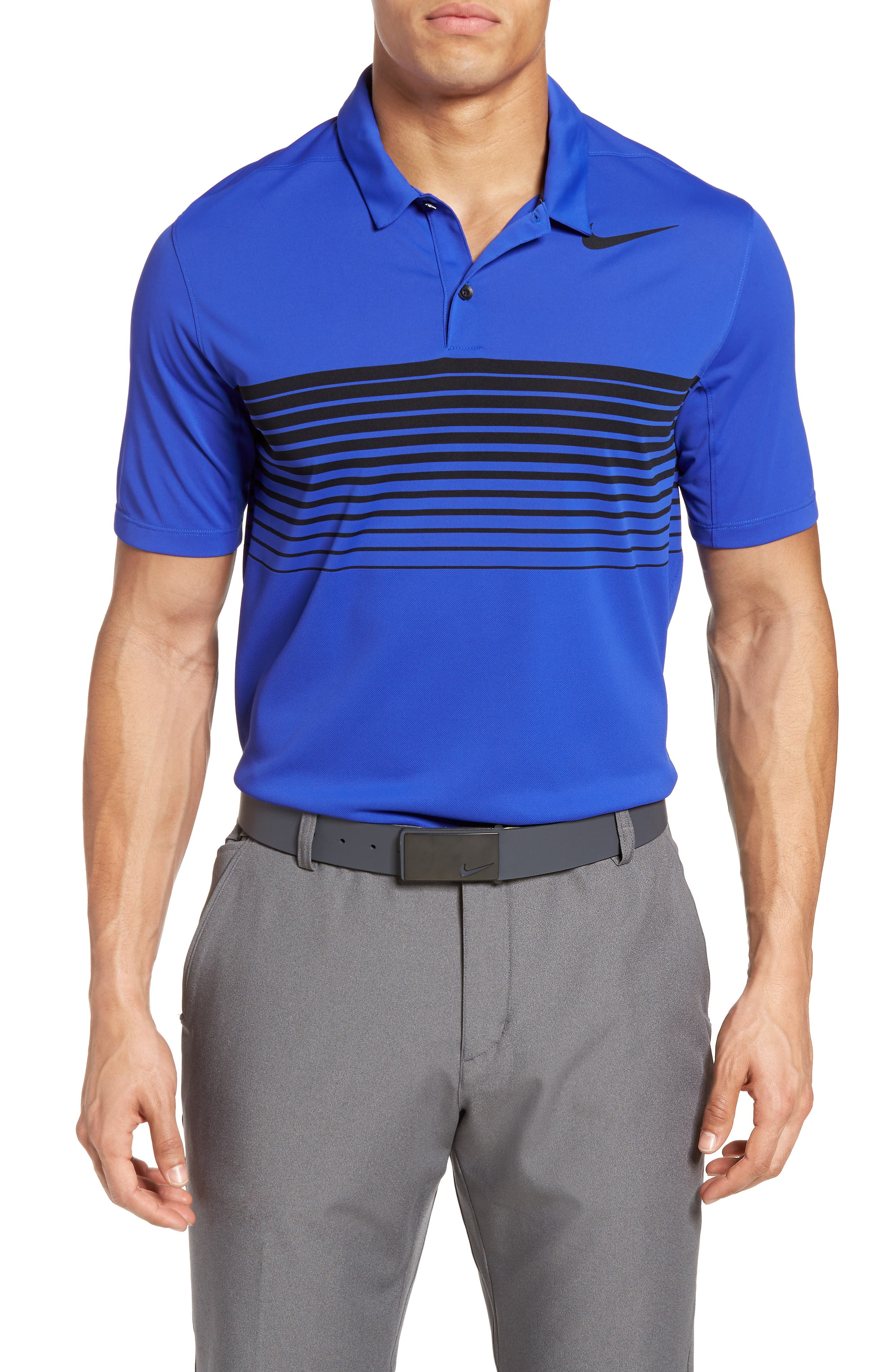 Nike Mobility Speed Stripe Stretch Golf Polo