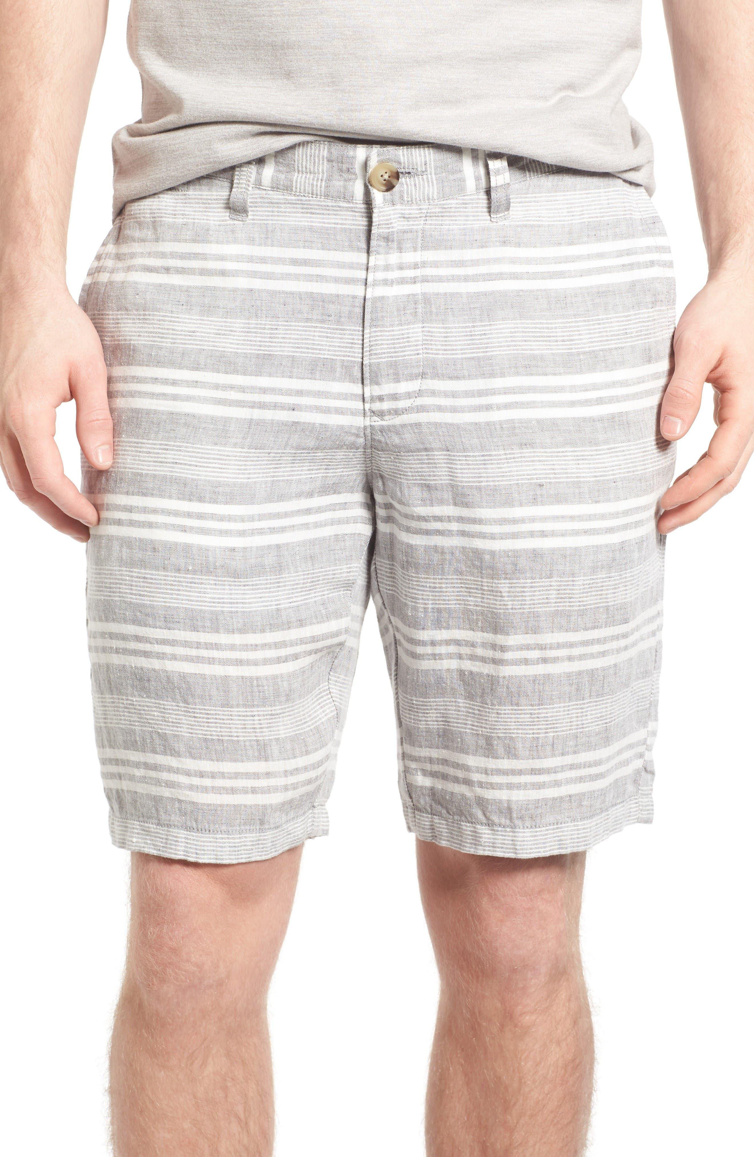 Alternate Image 1 Selected - 1901 Stripe Linen Shorts