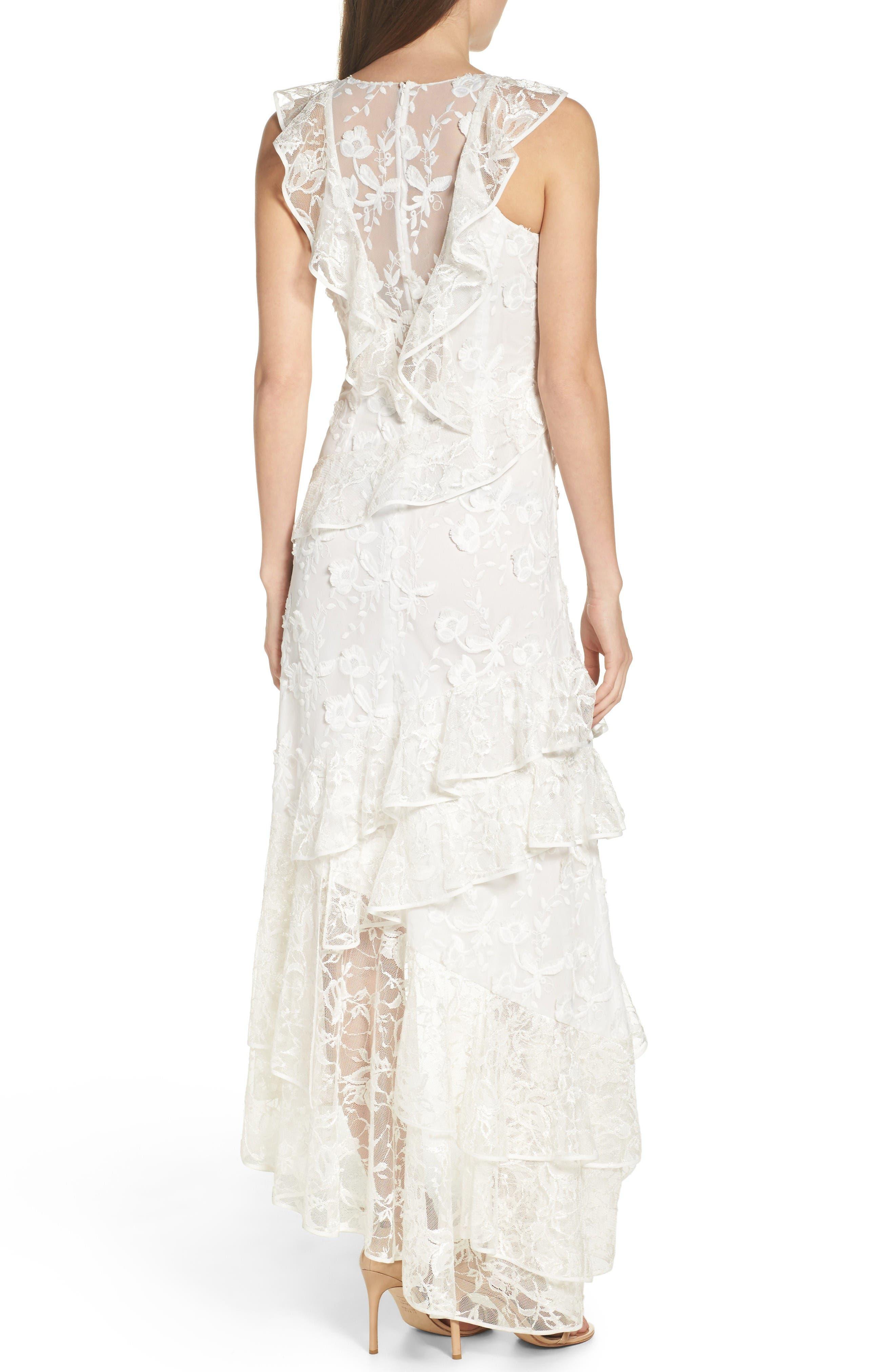 Alternate Image 2  - Sachin & Babi Noir Prima Asymmetrical Mesh Gown