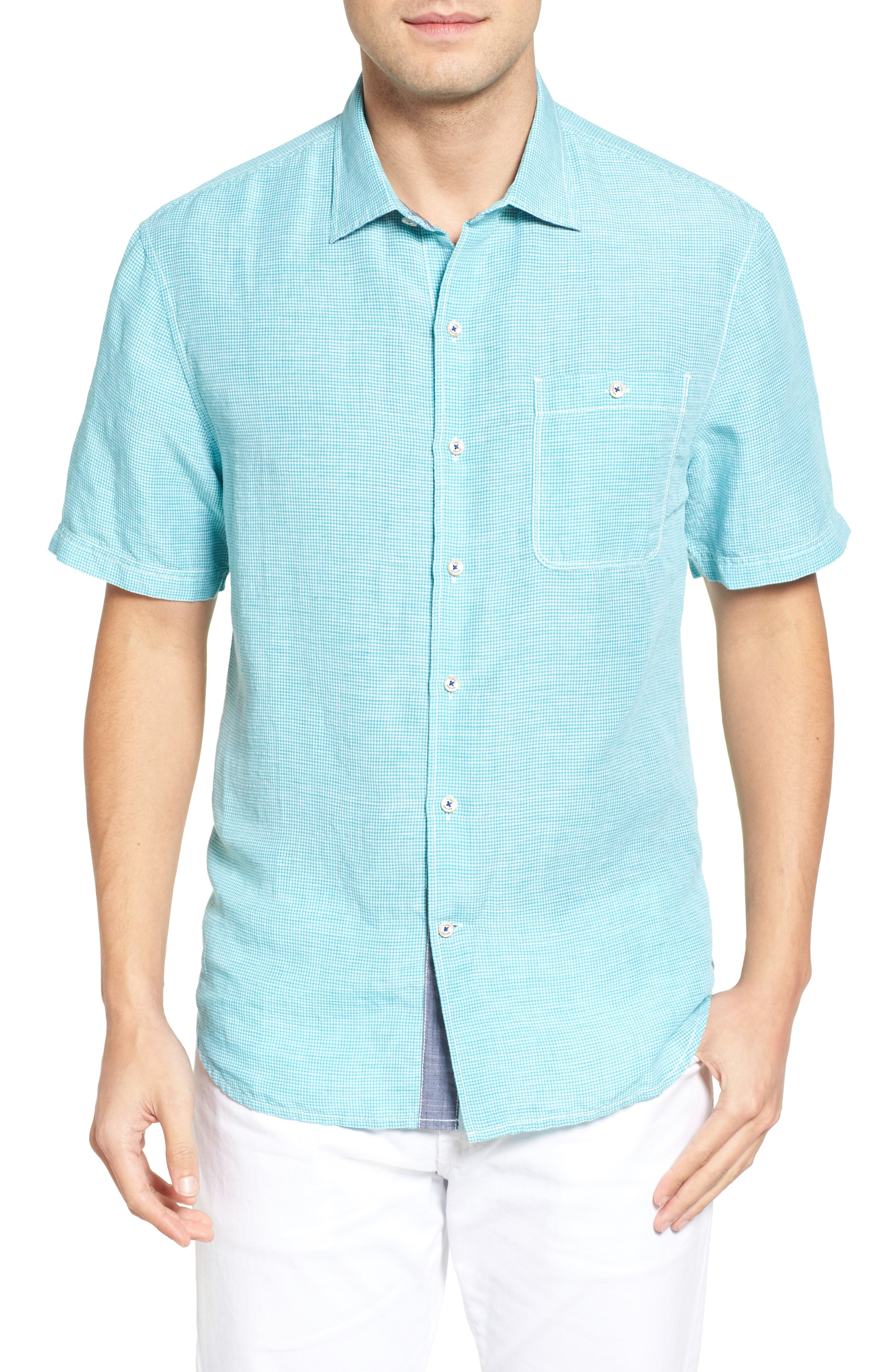Tommy Bahama Sand Linen Check Sport Shirt (Big & Tall)