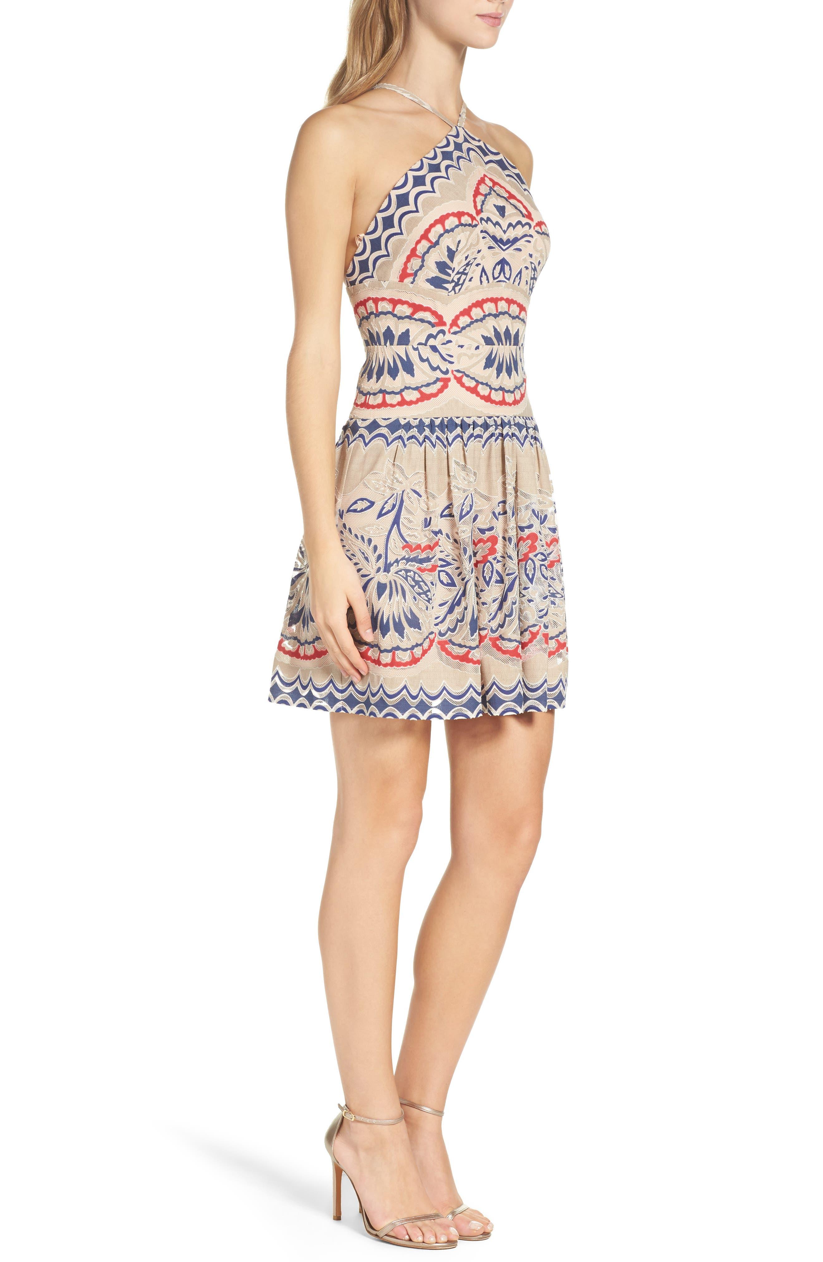 Alternate Image 3  - BCBGMAXAZRIA Fleur Drop Waist Dress