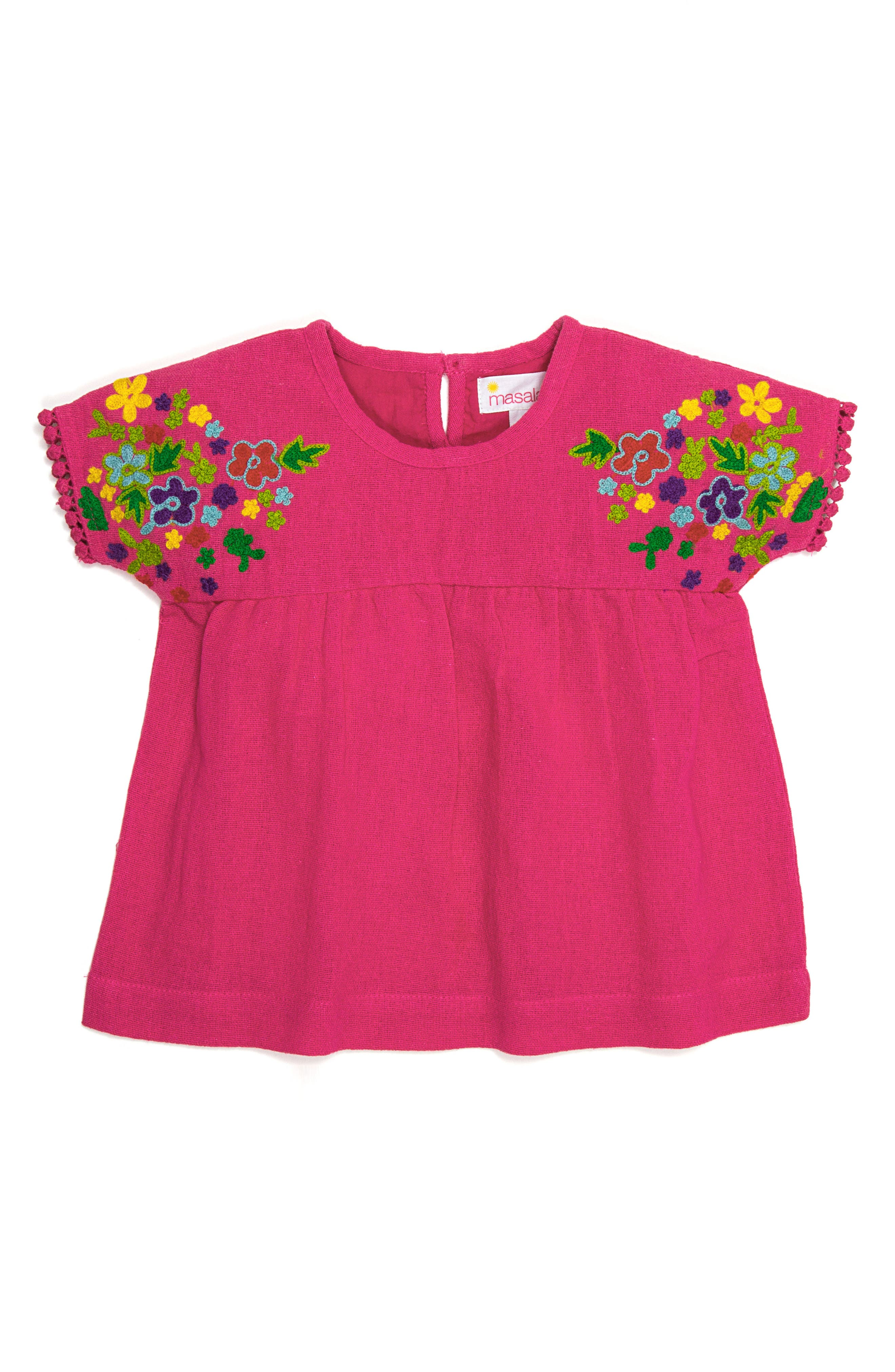 Masalababy Kumari Embroidered Top (Toddler Girls, Little Girls & Big Girls)