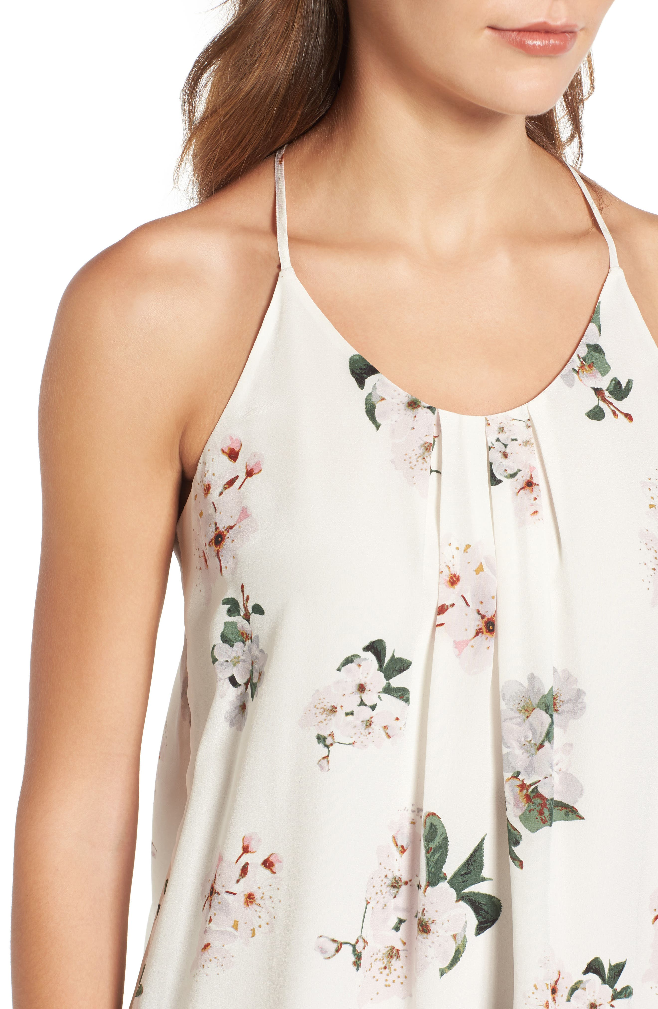 Alternate Image 4  - Lucky Brand Floral Silk Tank