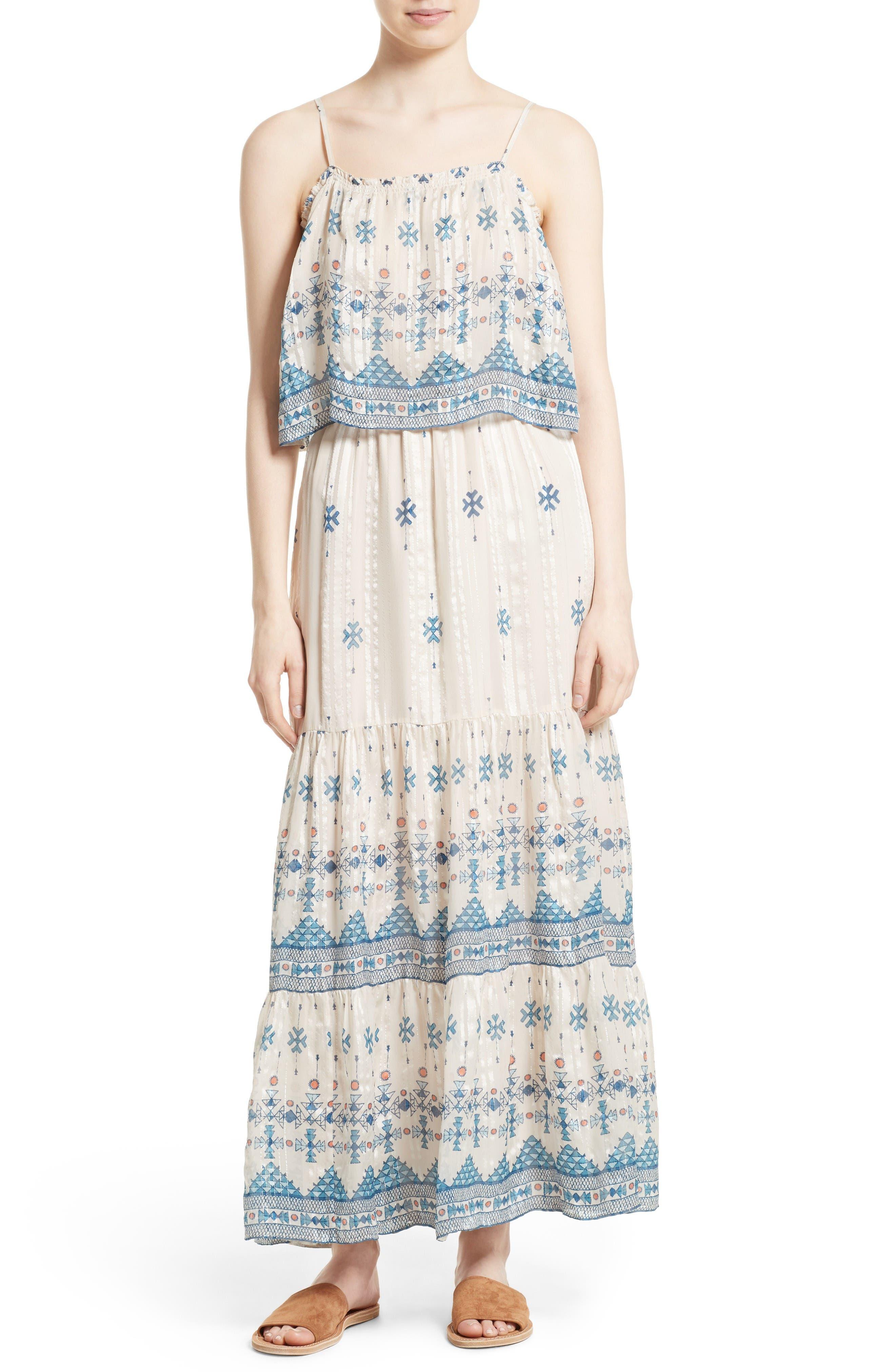 Joie Sorne Print Popover Maxi Dress