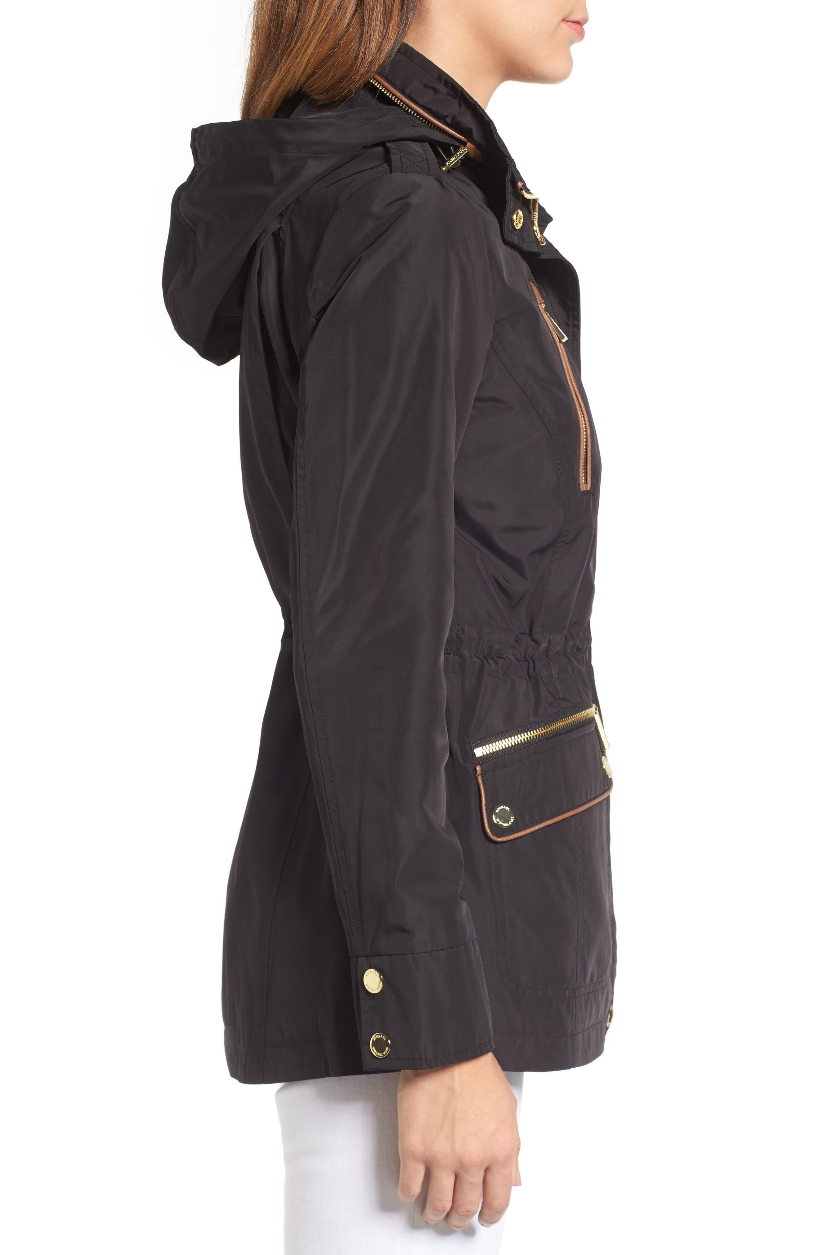 Alternate Image 3  - MICHAEL Michael Kors Faux Leather Trim Anorak