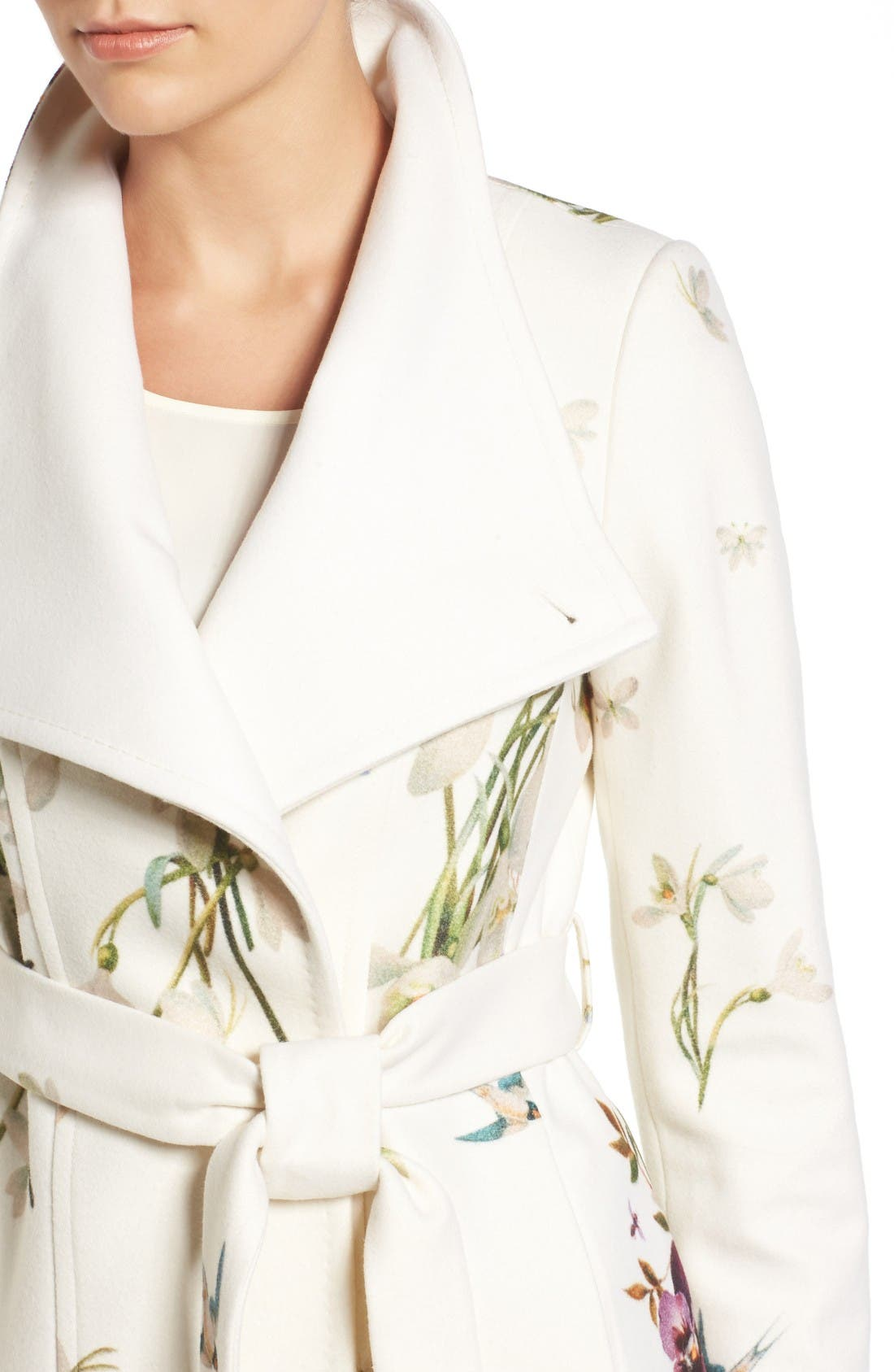 Alternate Image 4  - Ted Baker London Spring Meadow Wool Blend Wrap Coat