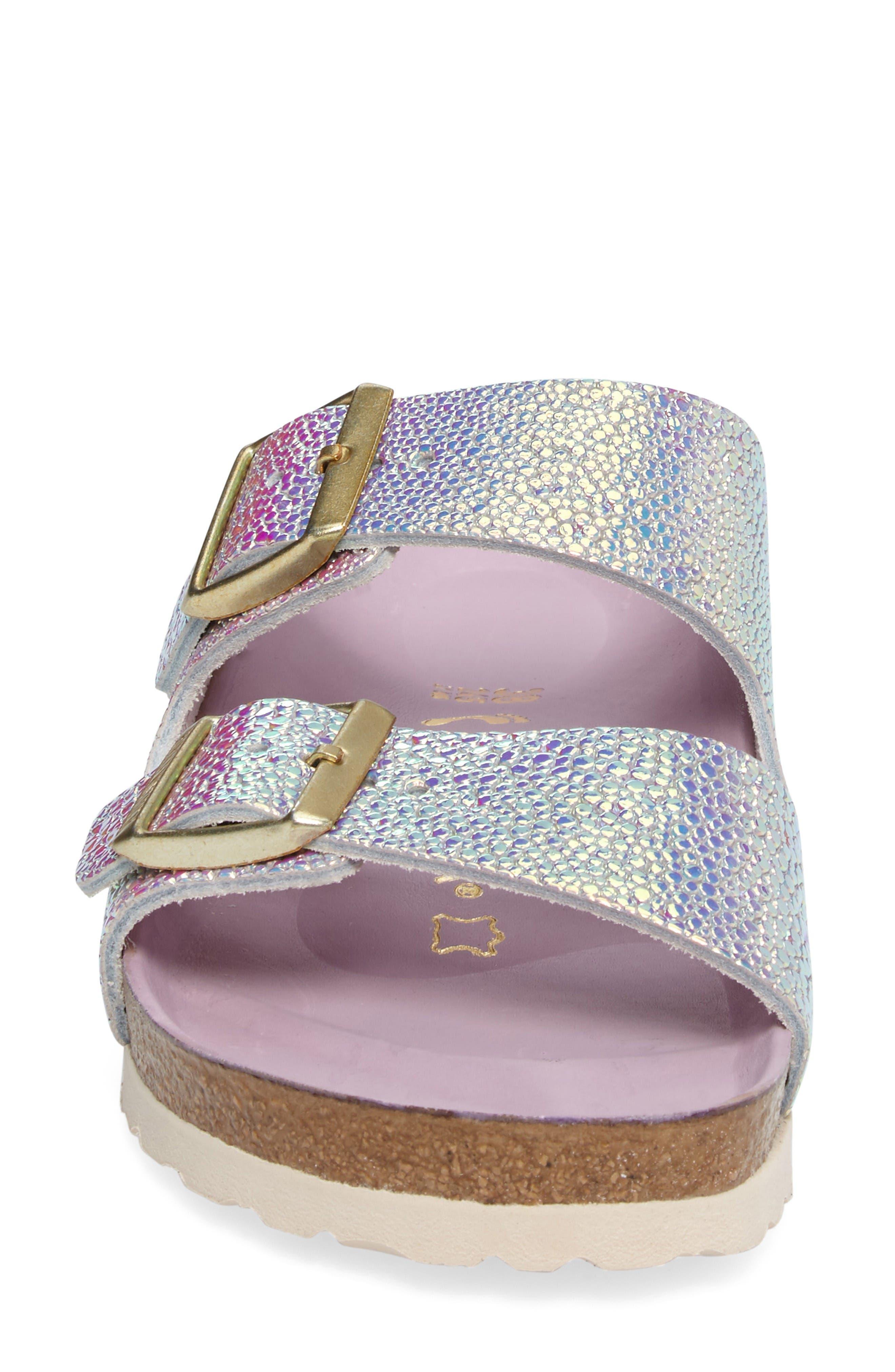 Alternate Image 4  - Birkenstock Arizona Lux Iridescent Slide Sandal (Women)