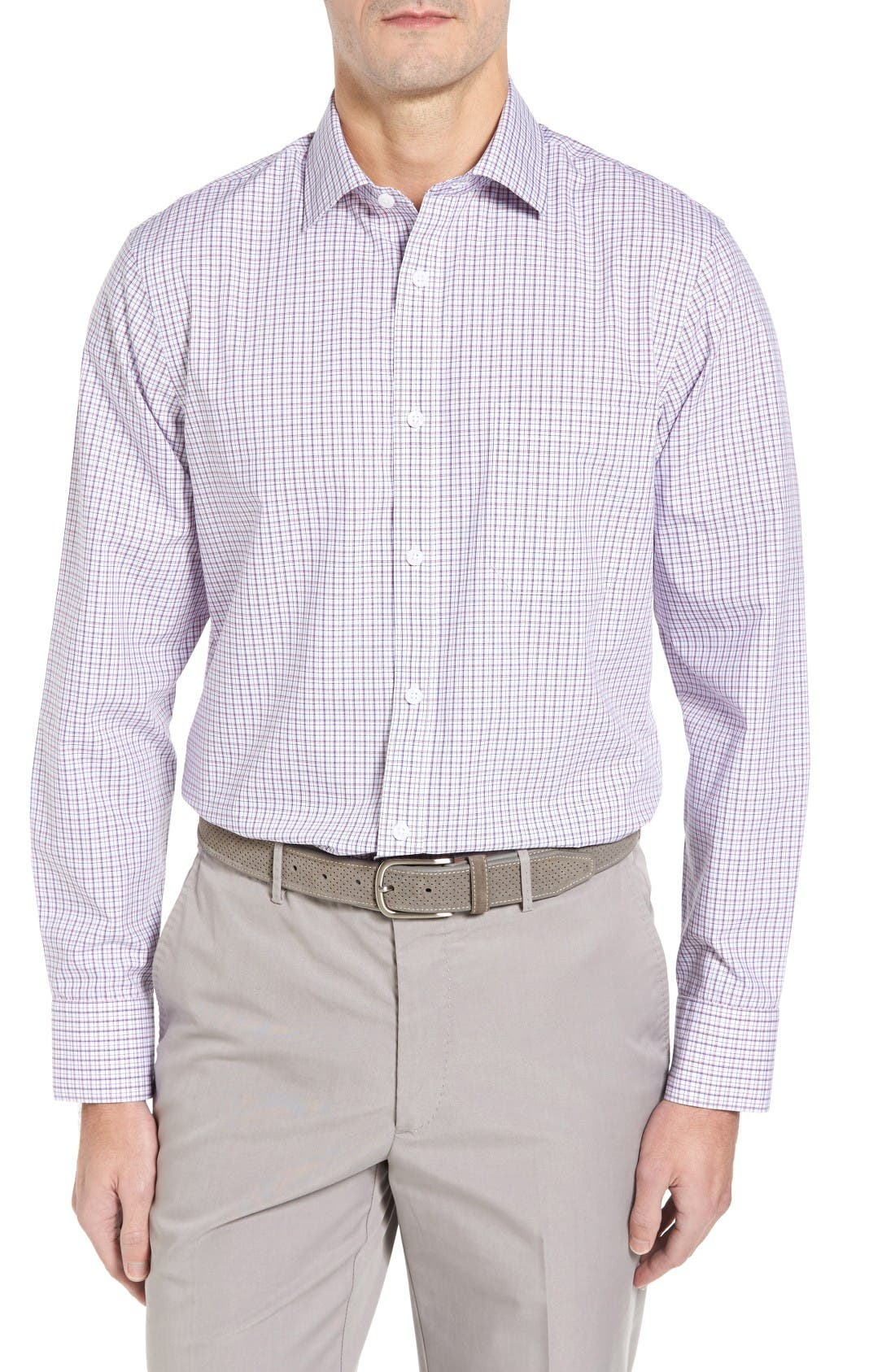 NORDSTROM MEN'S SHOP Smartcare™ Spread Check Sport Shirt