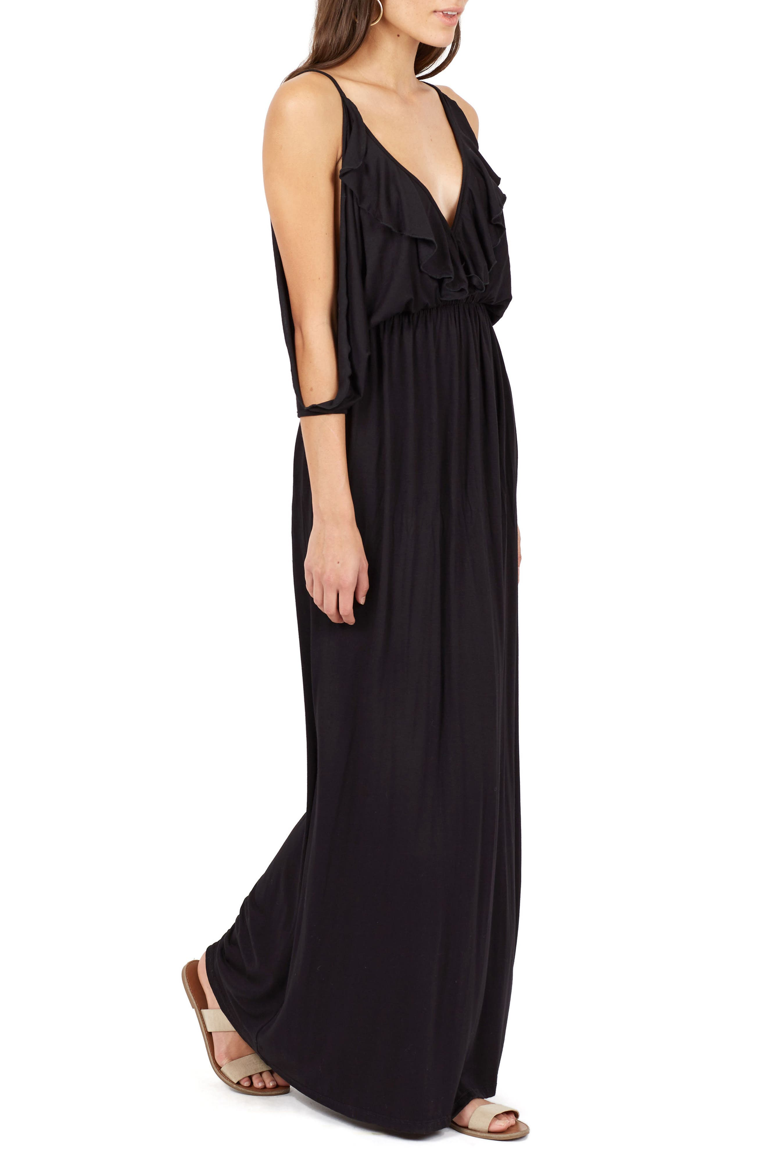 Alternate Image 3  - Delacy Nia Cold Shoulder Maxi Dress