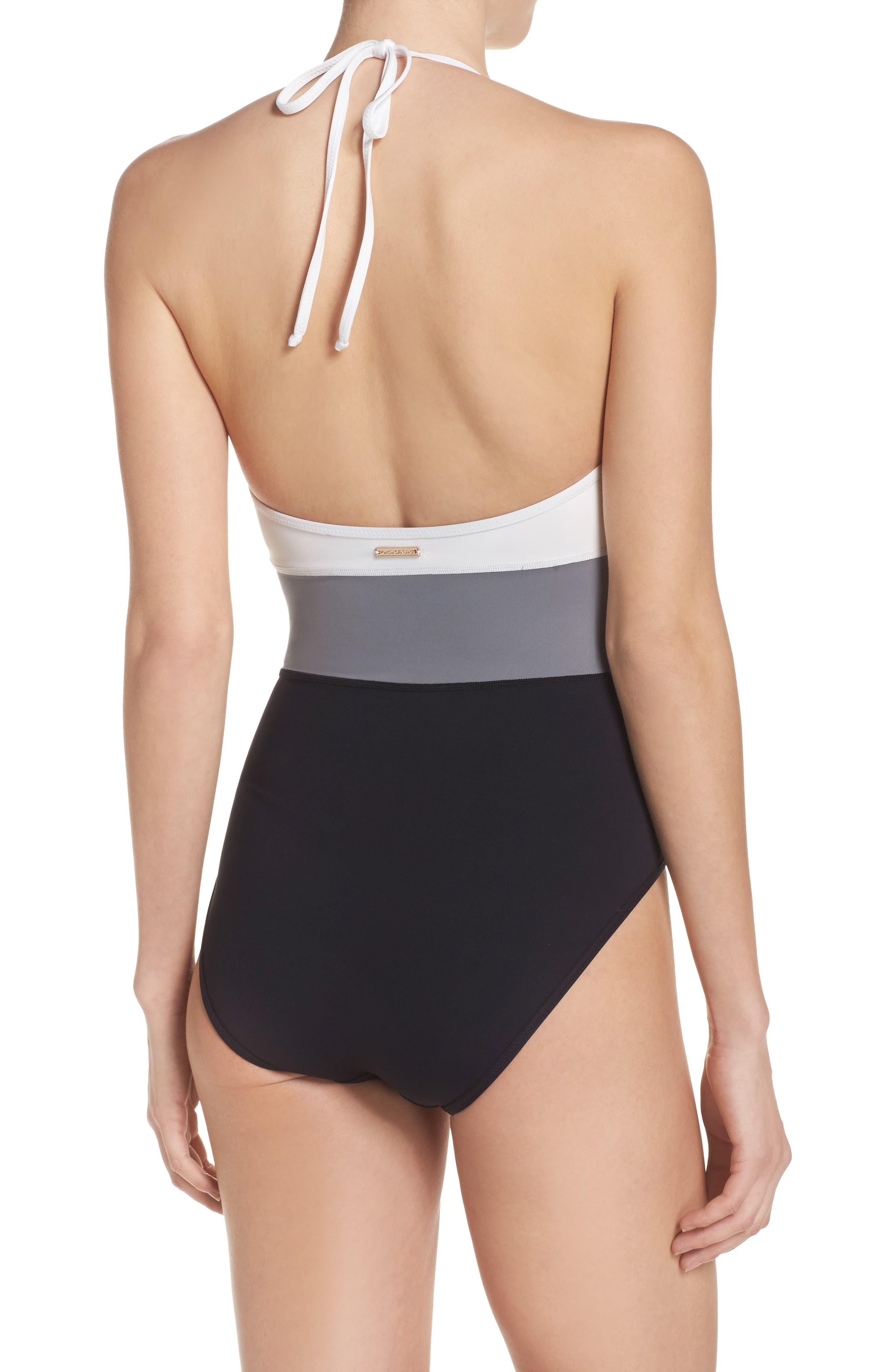 Alternate Image 2  - Vince Camuto Halter One-Piece Swimsuit